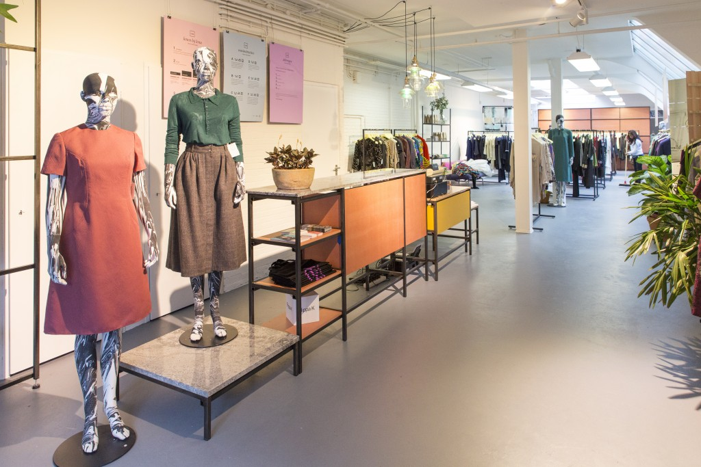 the beautiful Lena Fashion Library in Amsterdam