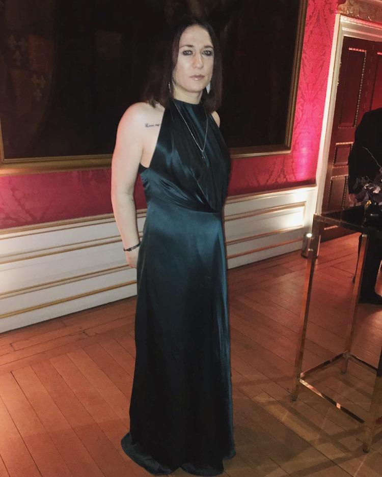 Dee in Deborah Frances-White's dress at Kensington Palace