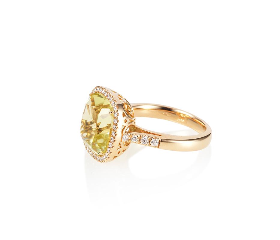 Lemon Cocktail Diamond Ring