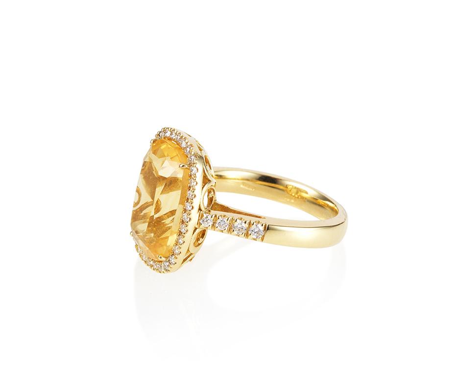 Light Citrine Ring