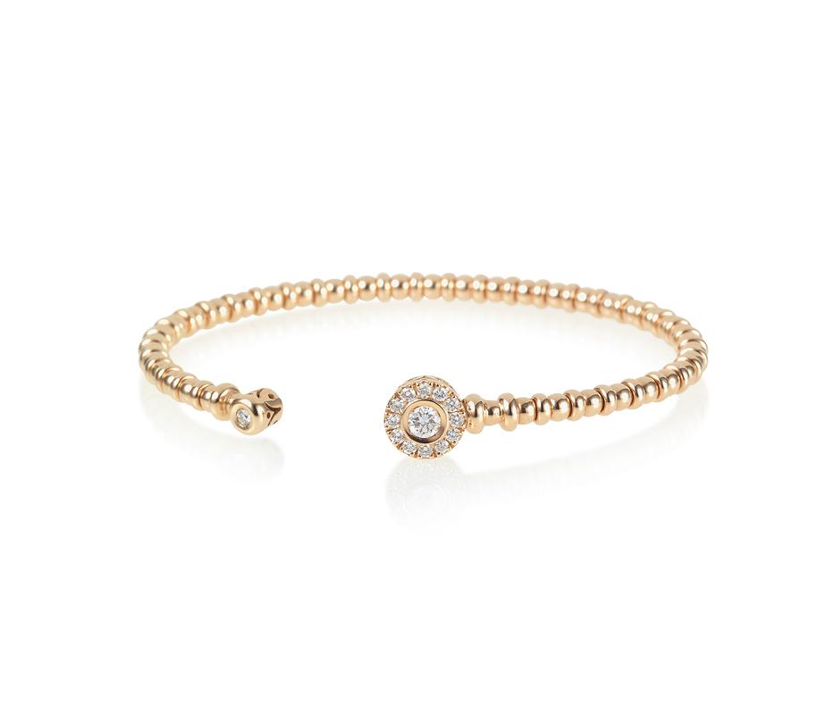 Diamond Gold Open Flexi Bracelet