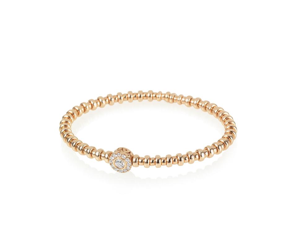 Rose Gold & White Diamond Flexi Bracelet