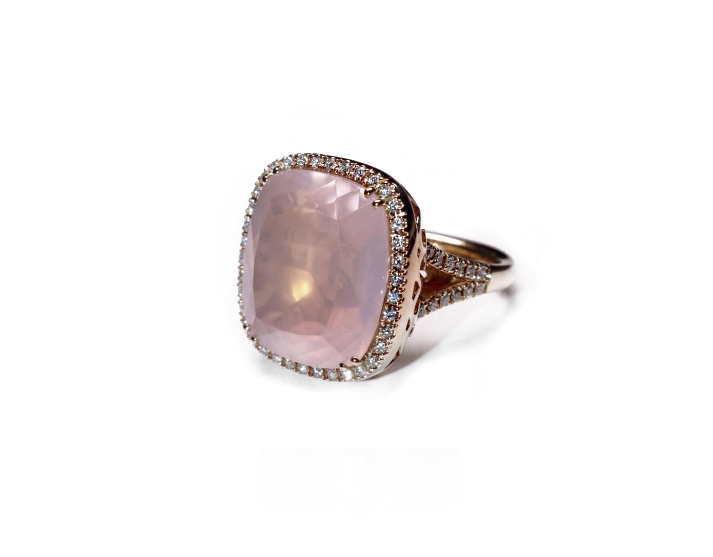 Jardinia Rose Quartz & White Diamonds