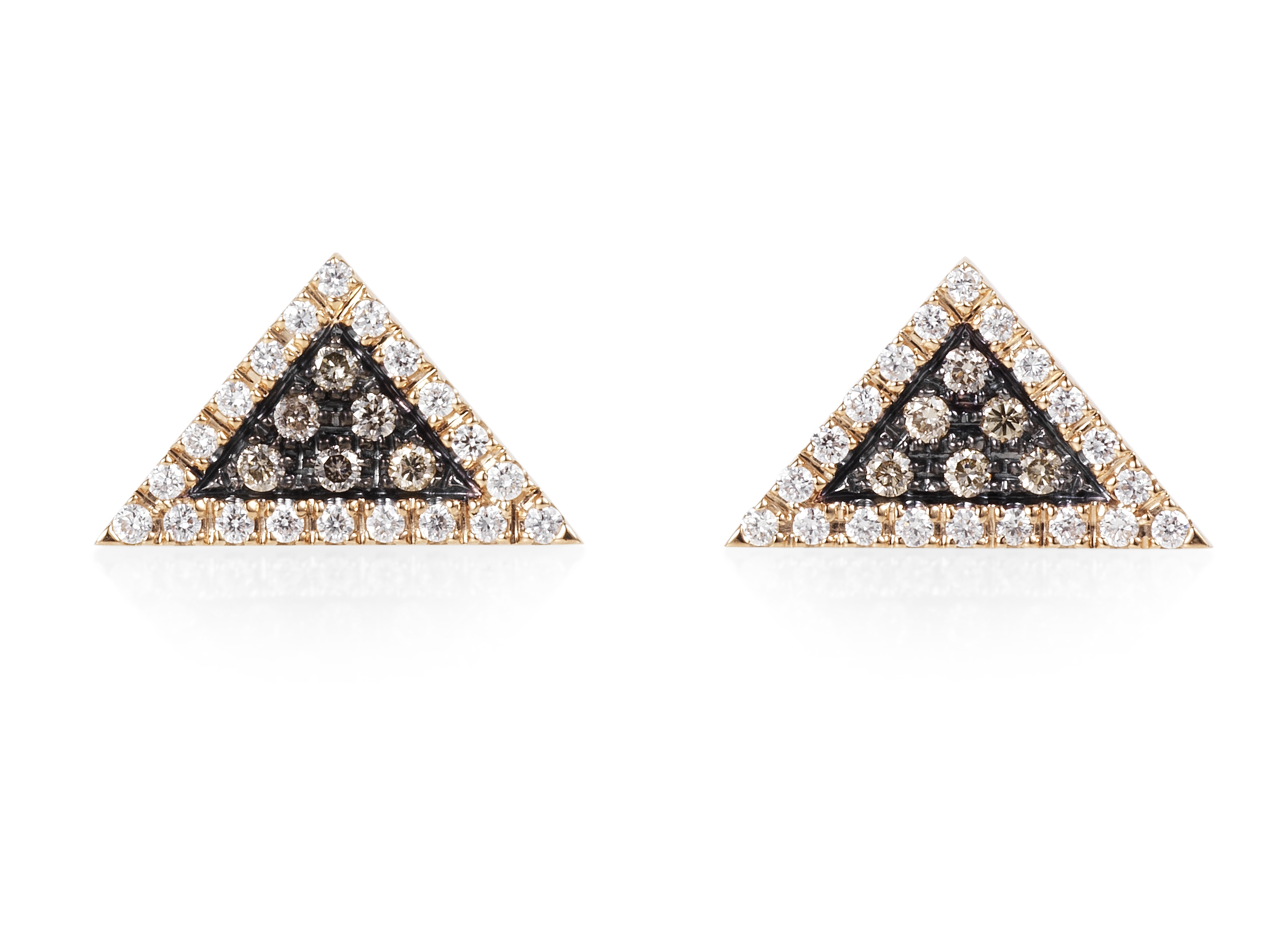 Rose Gold Trillion Earrings