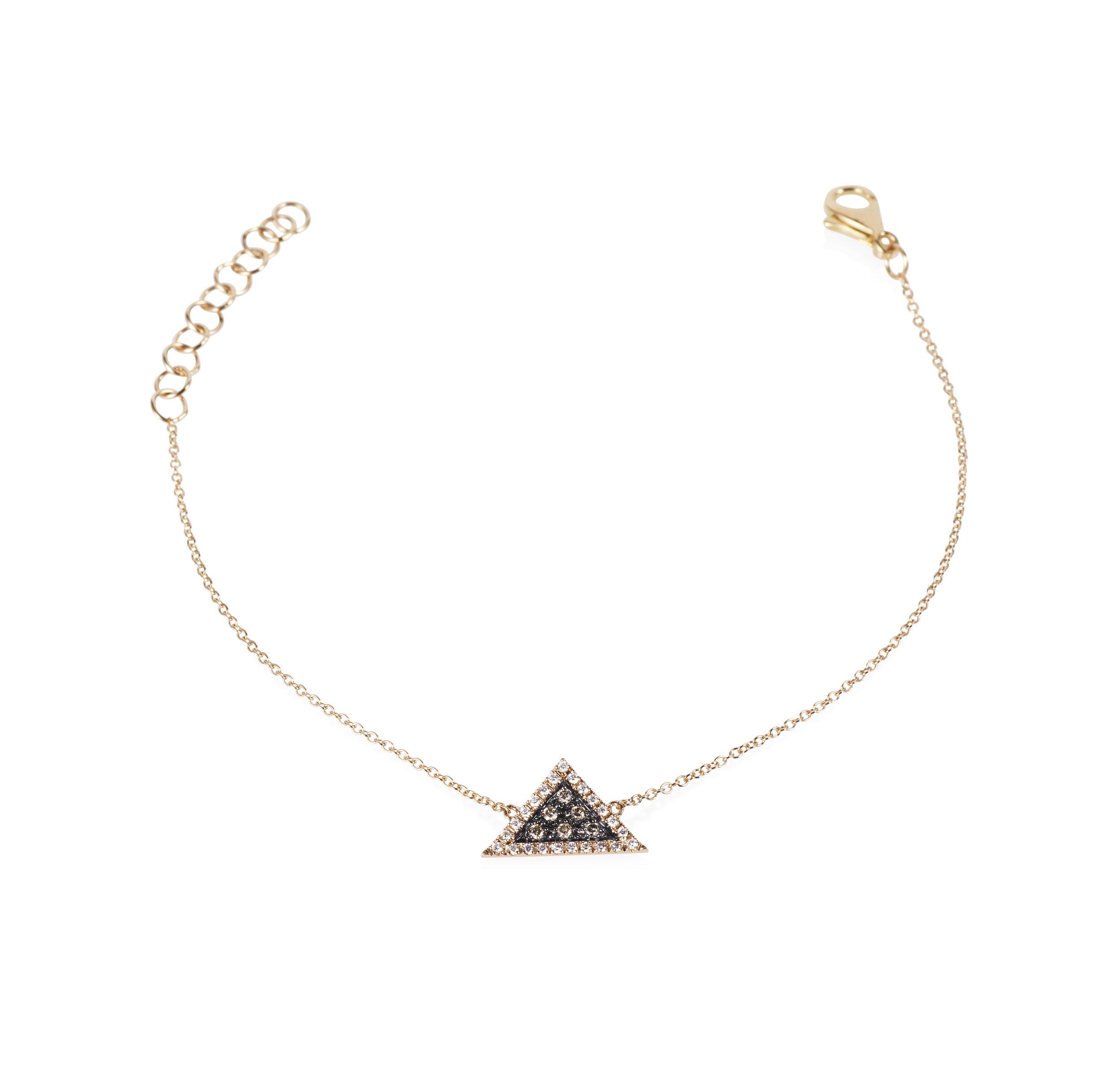 Rose Gold Trillion Bracelet
