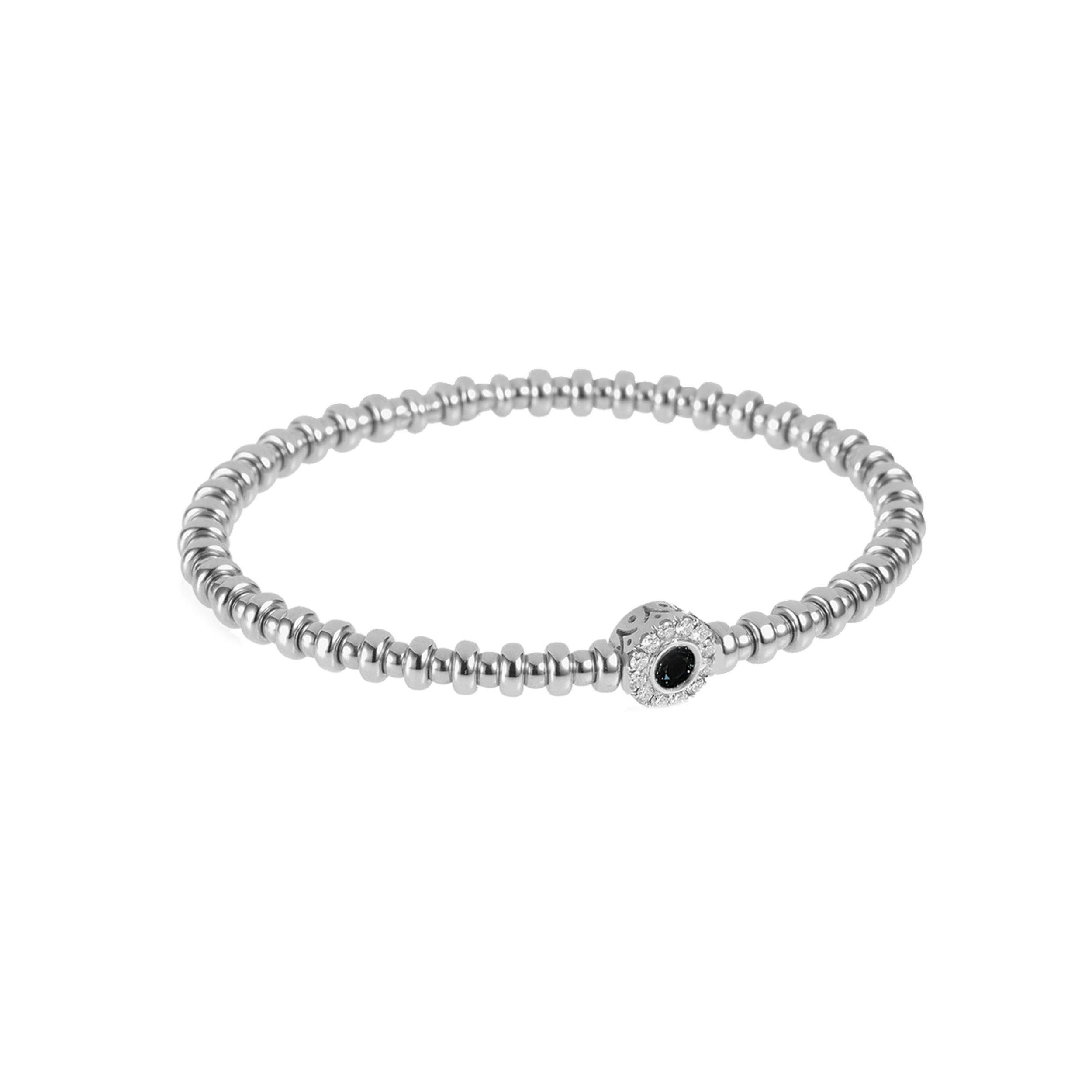 White Gold, White & Black Diamond Flexi Bracelet