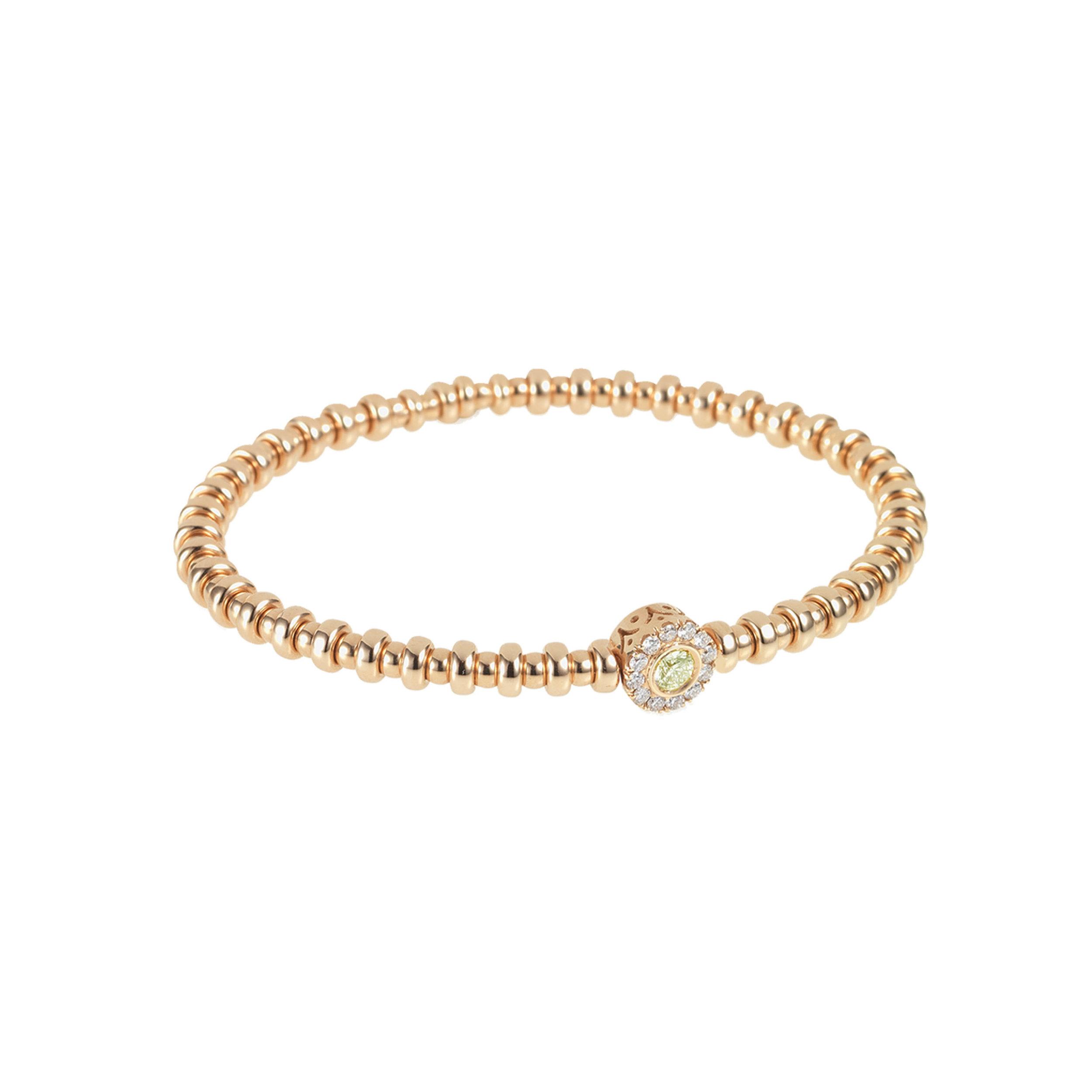 Yellow Gold, White Diamond & Yellow Sapphire Flexi Bracelet