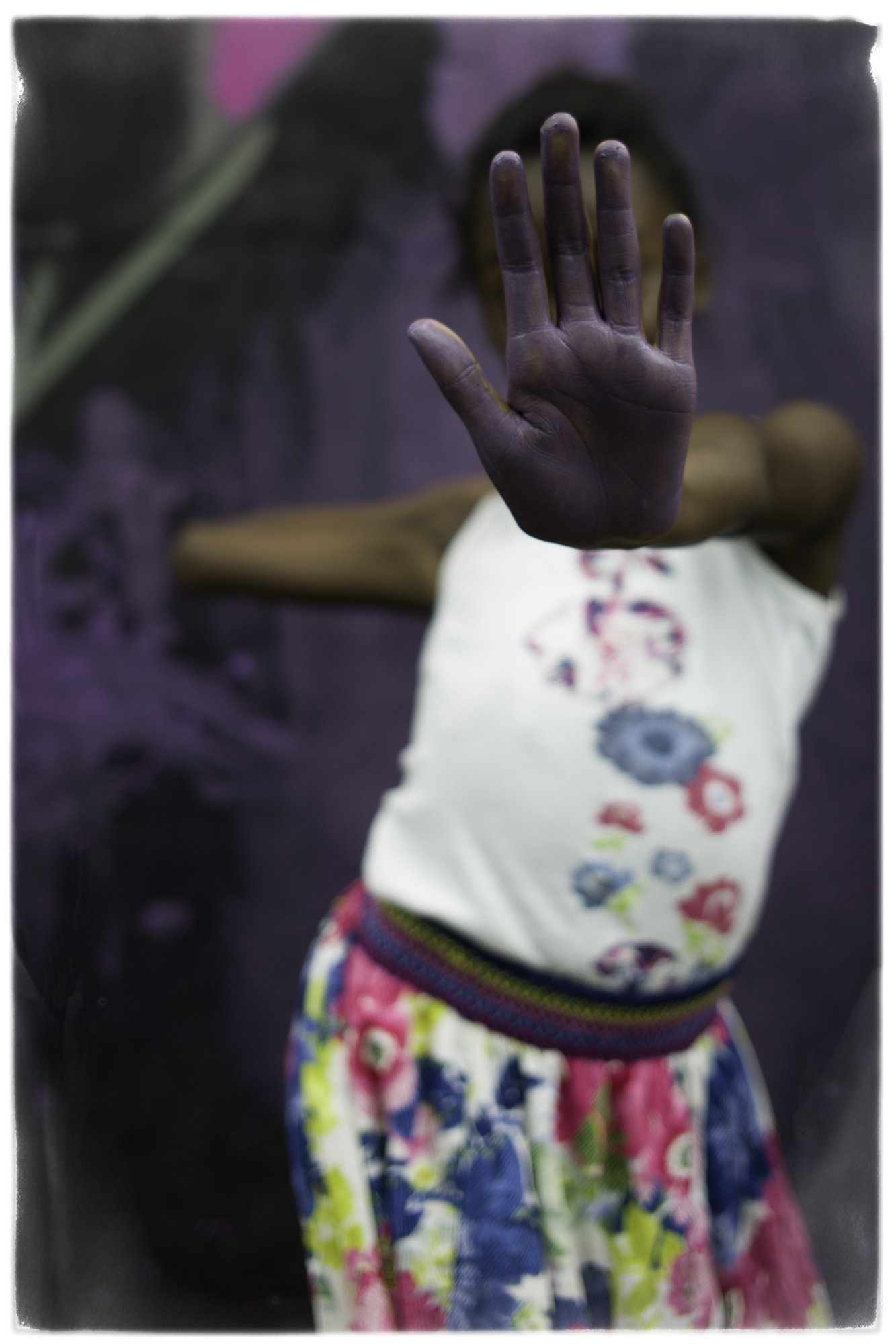 """Purple Hand"" Shanea in session with TCC ( the color children) l Wynwood Miami  2015, Photography  © Mike Wolff"