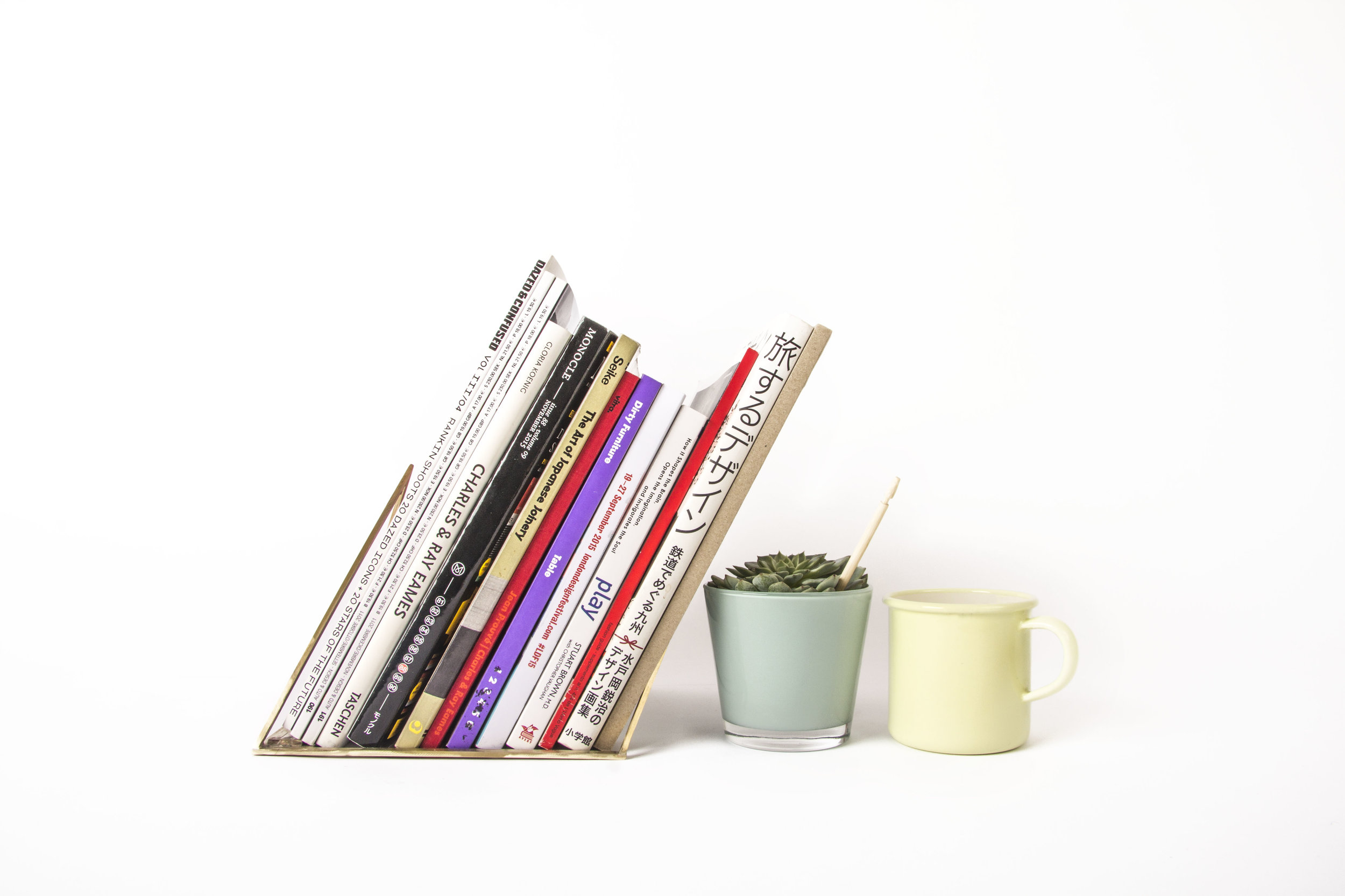 Bookstand with plant and cup.jpg