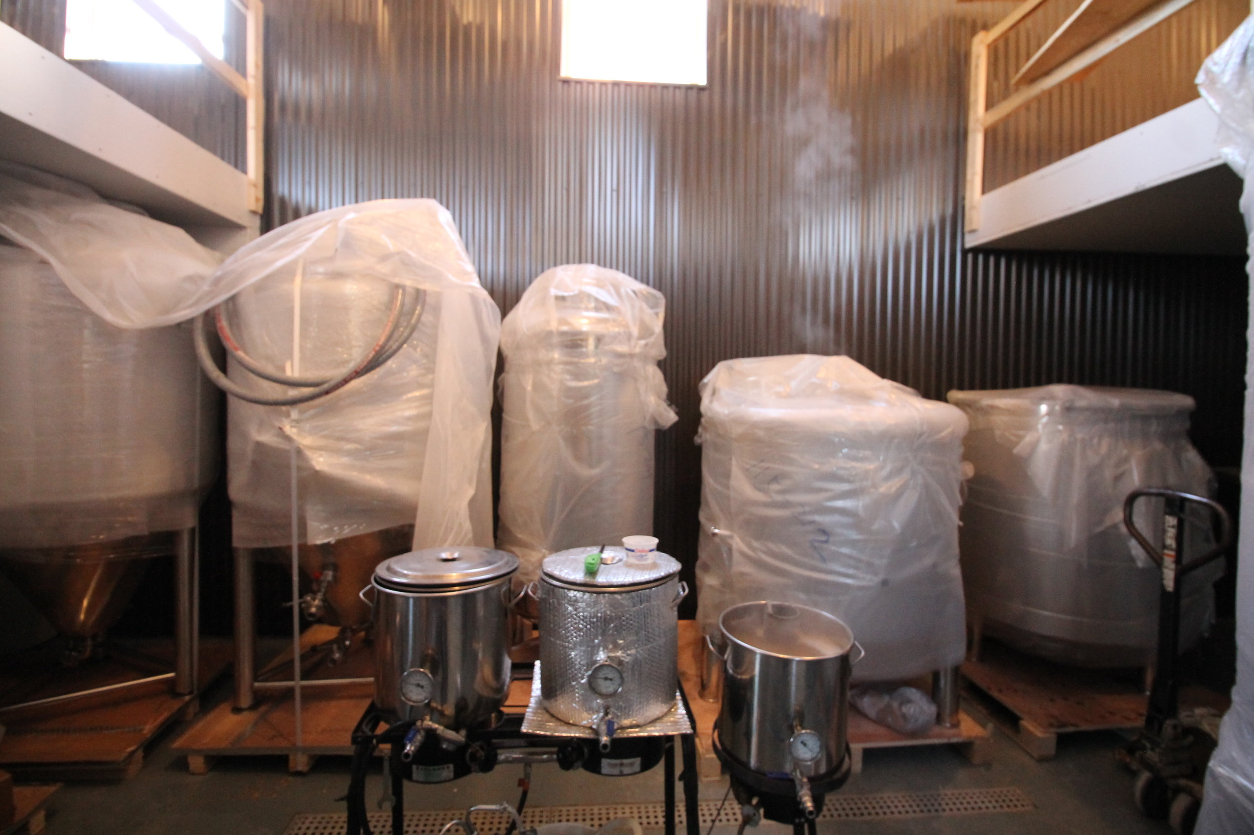 Portage Brewing Company Brewhouse Tanks