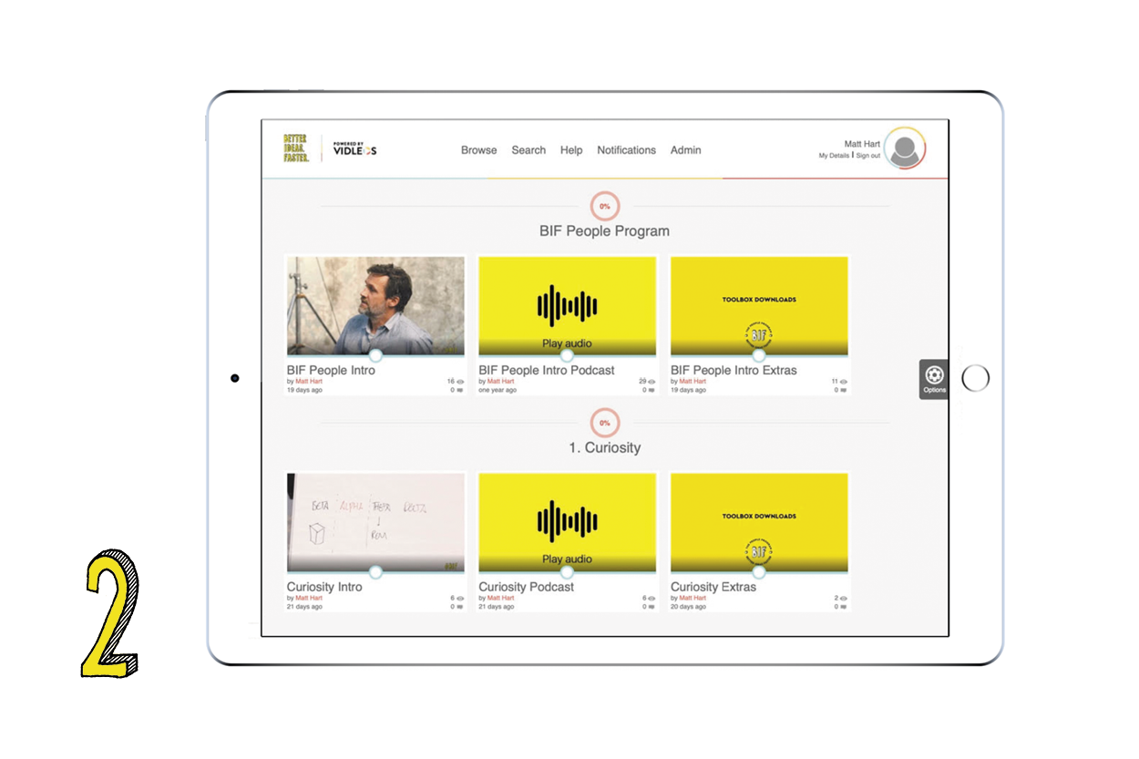 ELEARNING  Short videos, longer podcasts and a digital toolbox all delivered through vidleos.com (transparency - Matt is a cofounder).