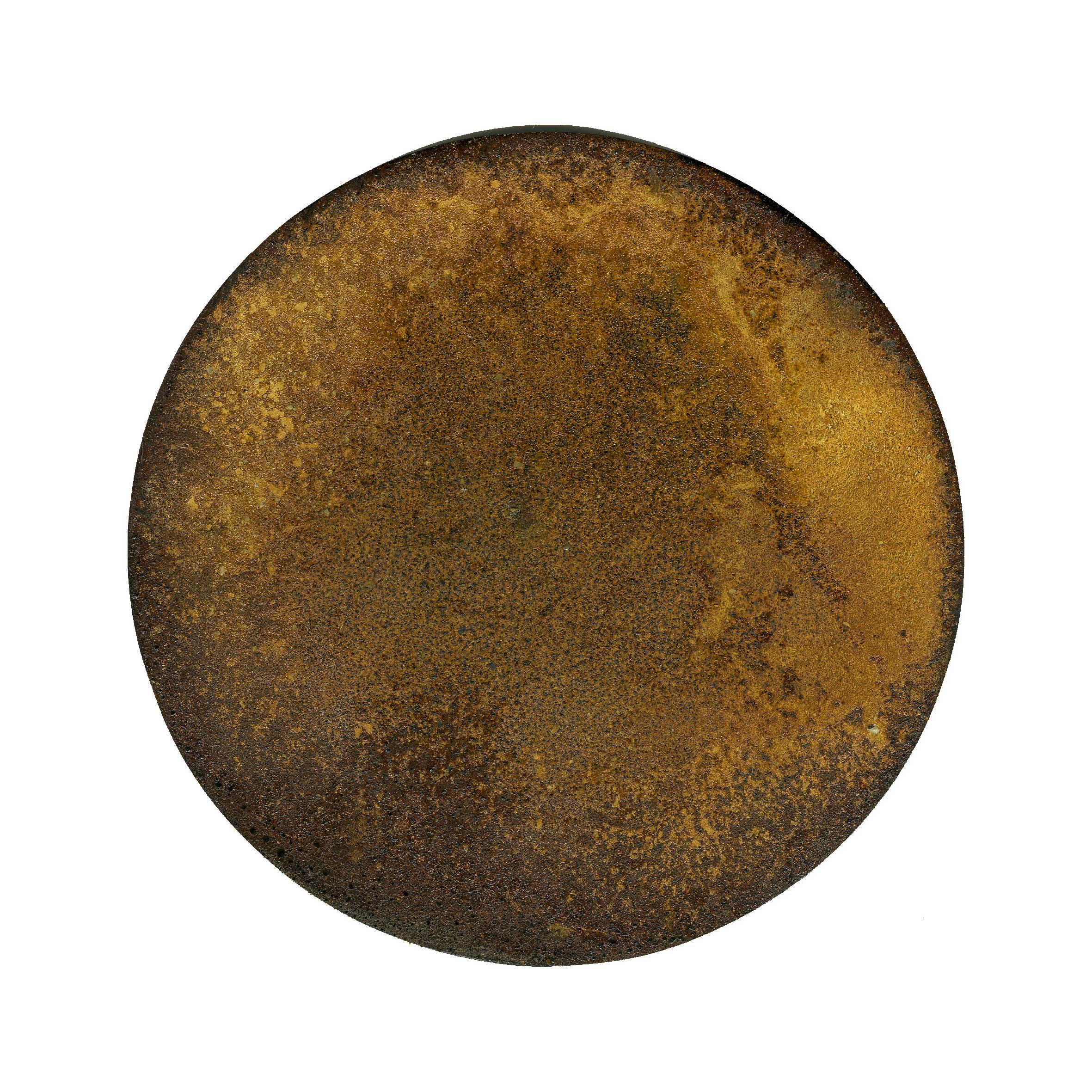IRON AND TIME (III) 2010  oxidised iron disc  Ø 120 mm
