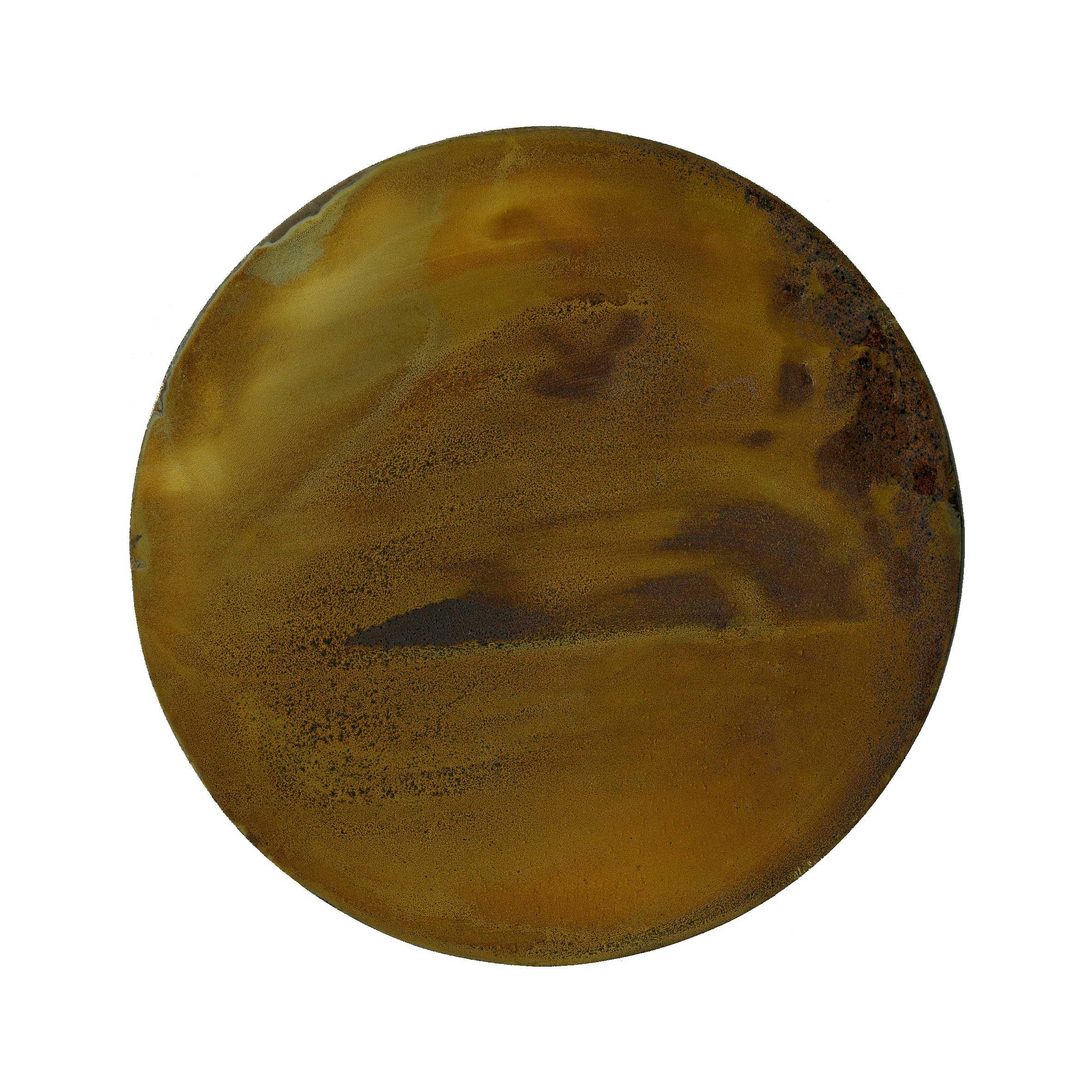 IRON AND TIME (VI) 2010  oxidised iron disc  Ø 120 mm