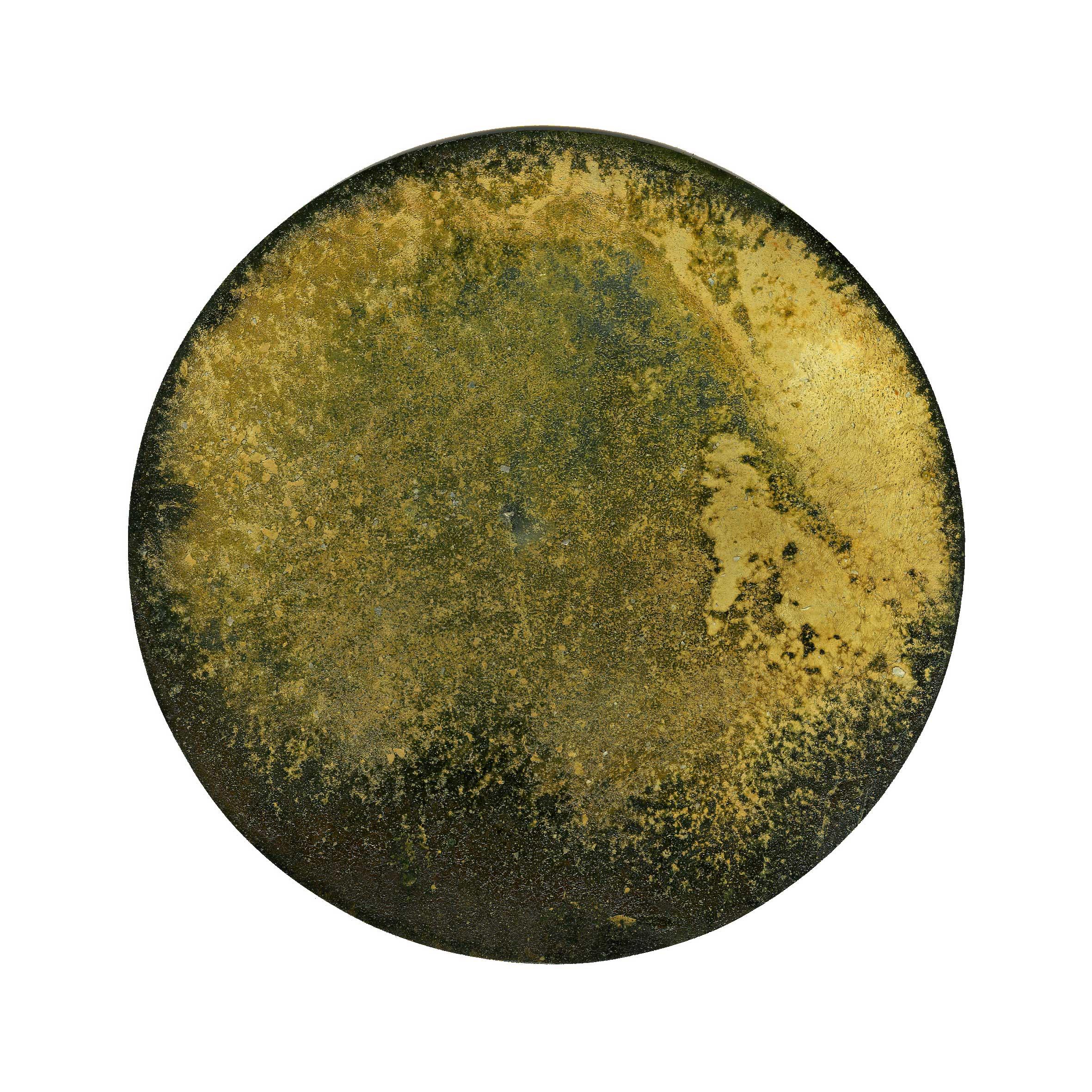 IRON AND TIME (IX) 2010  oxidised iron disc  Ø 120 mm