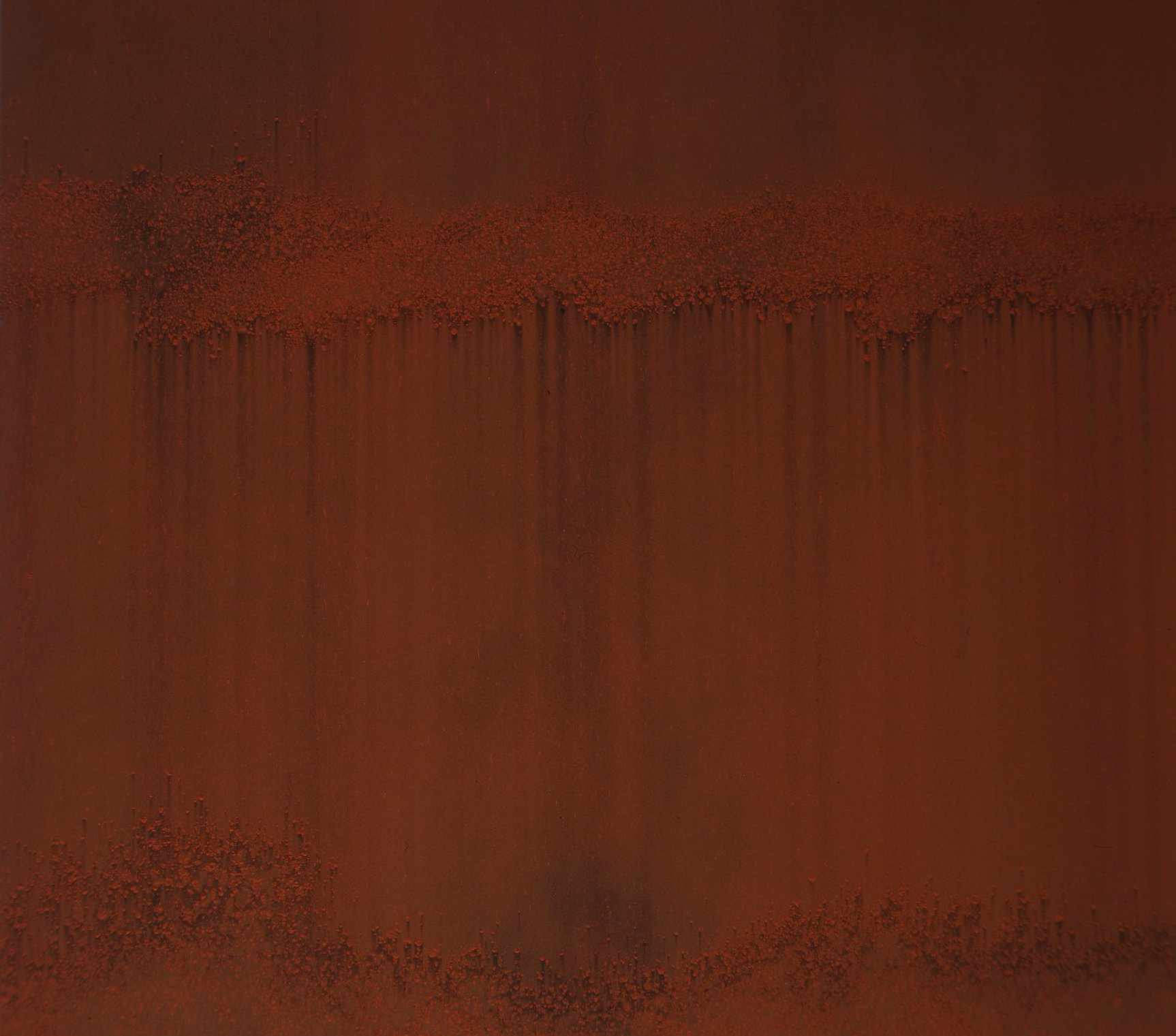 GATHERING (I)   detail  1999  burnt Sienna on carbon deposit  112.0 x 164.0 cm   (private collection UK)