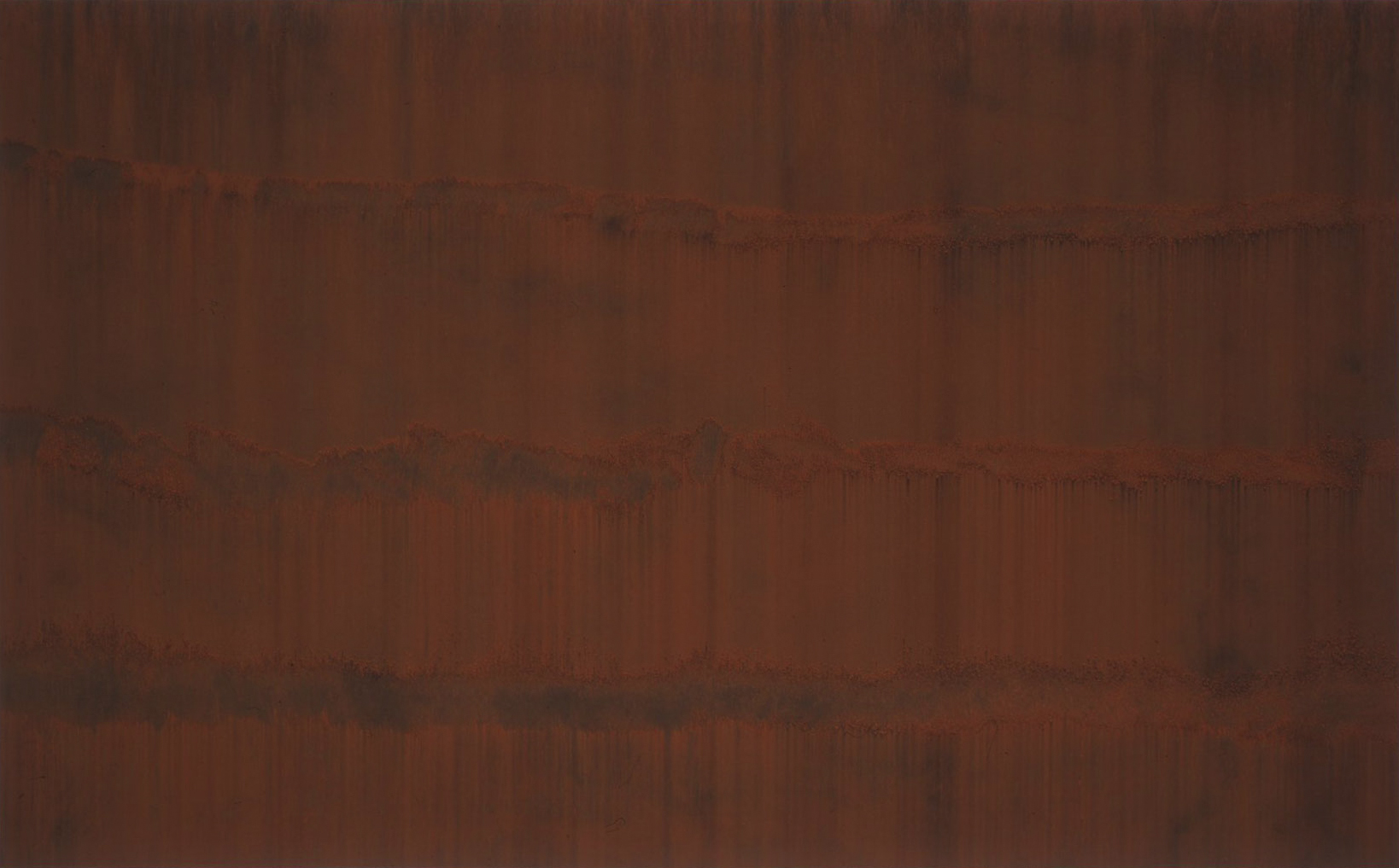 GATHERING (I)  1999  burnt Sienna on carbon deposit  112.0 x 164.0 cm   (private collection UK)