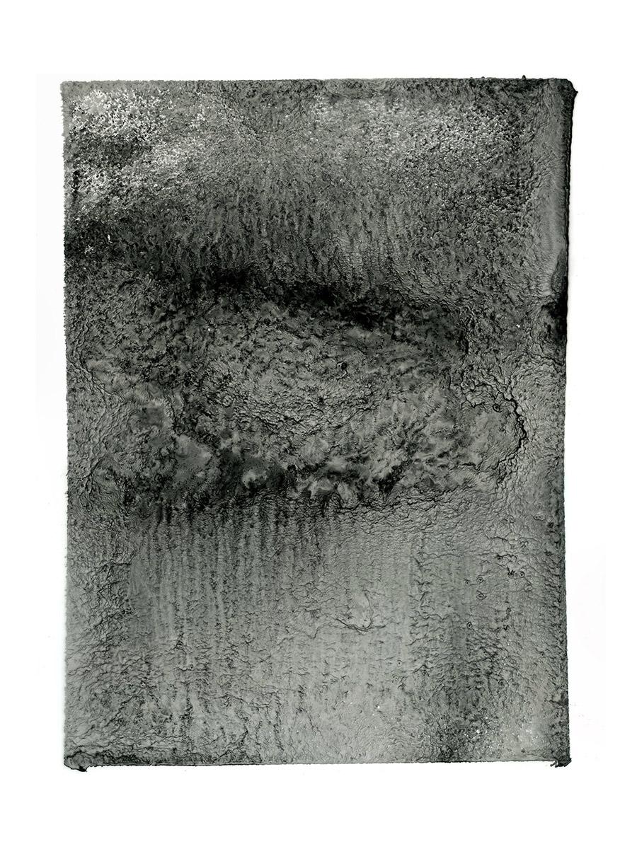 MERGE (I) 2013  Japanese Ink on aqueous polyester  26.0 x 34.0 cm