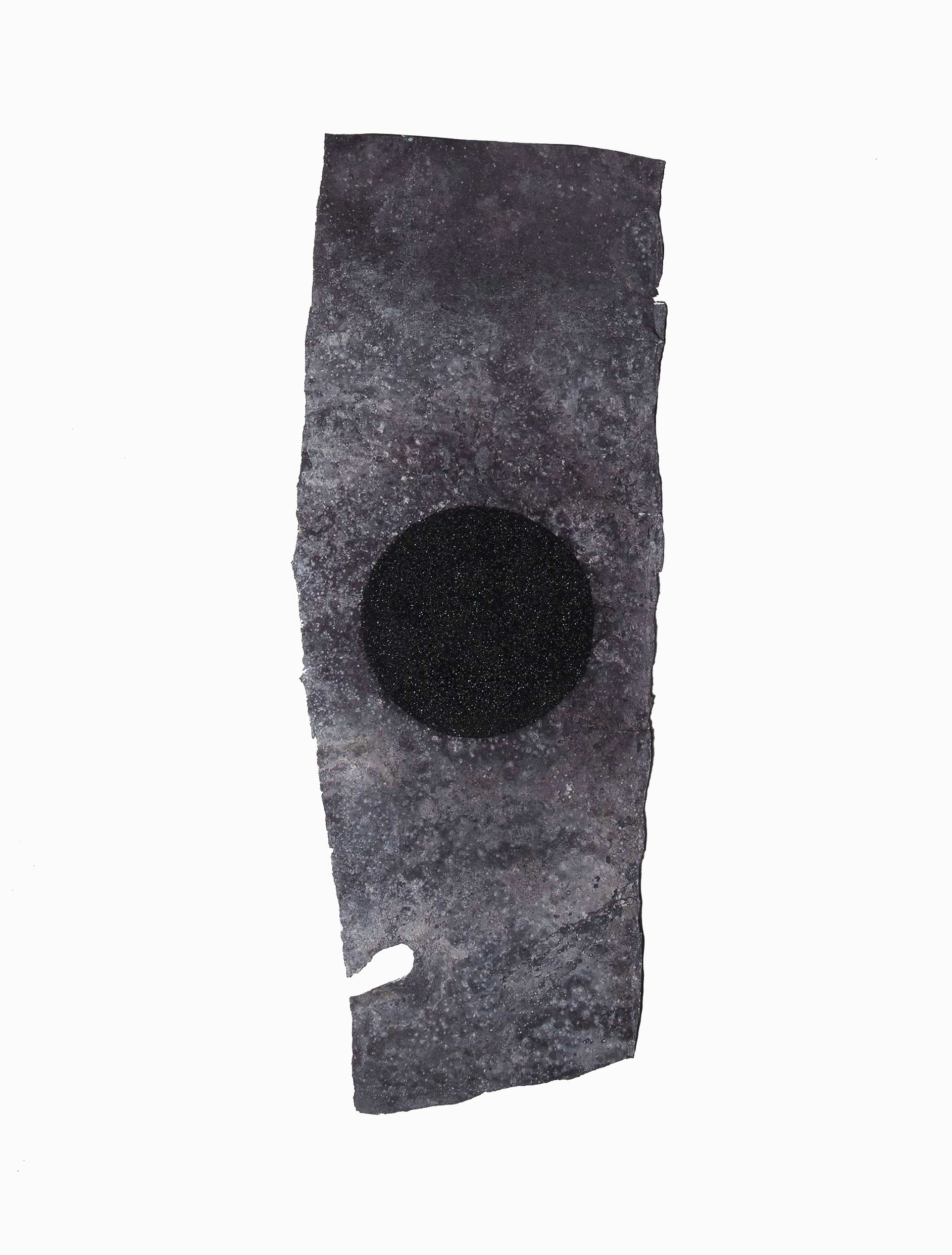 ZINC AND STARS  1997  carbon and oxidised zinc  33.0 x 8.1 cm   (private collection UK)