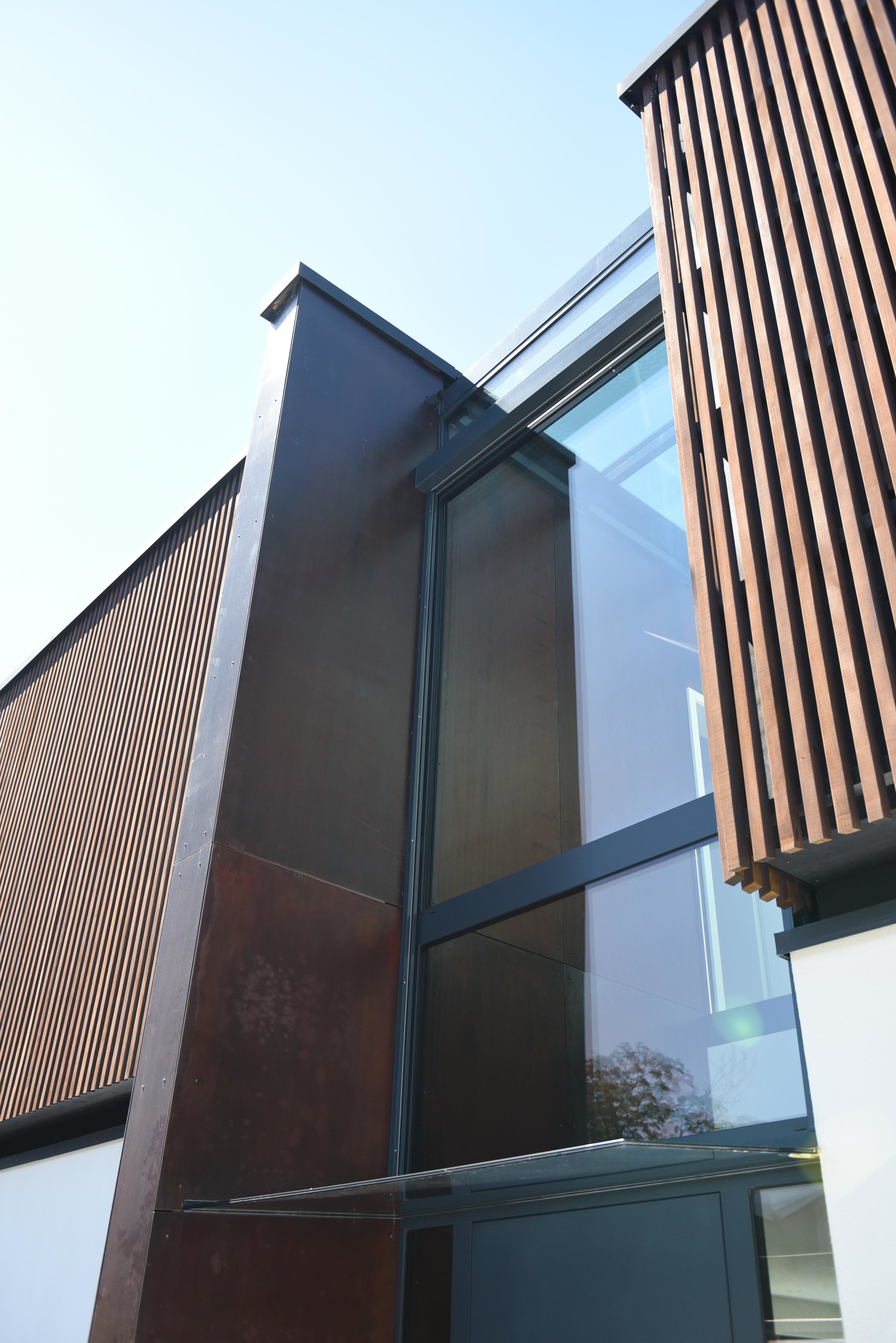 Einfamilienhaus mit Corten Stahl