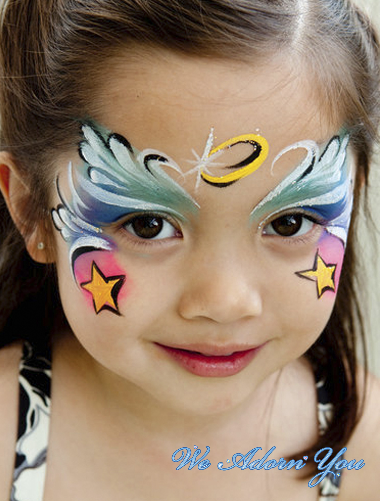 Face Painting Angel Girl- We Adorn You.jpg