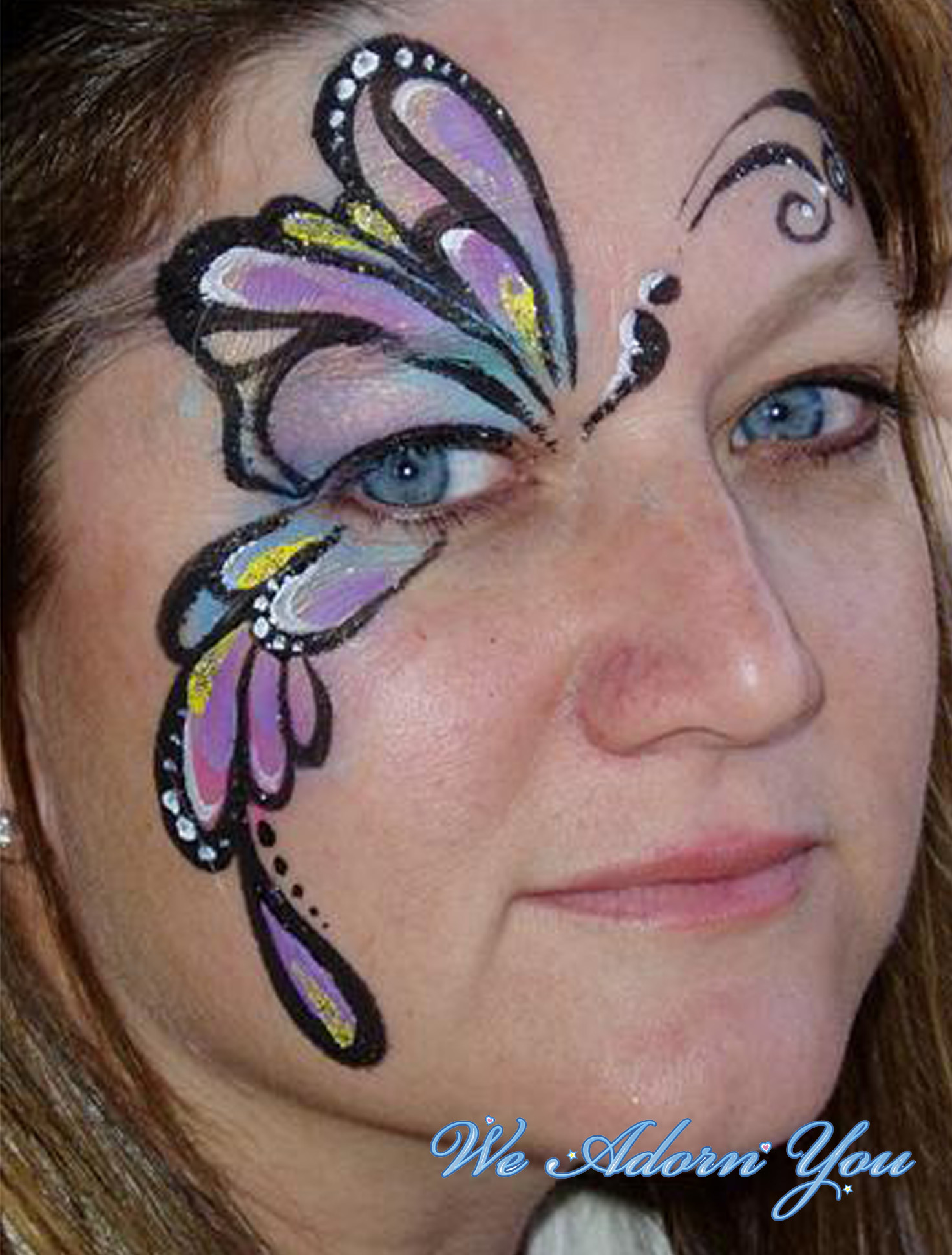 Face Painting Butterfly- We Adorn You.jpg