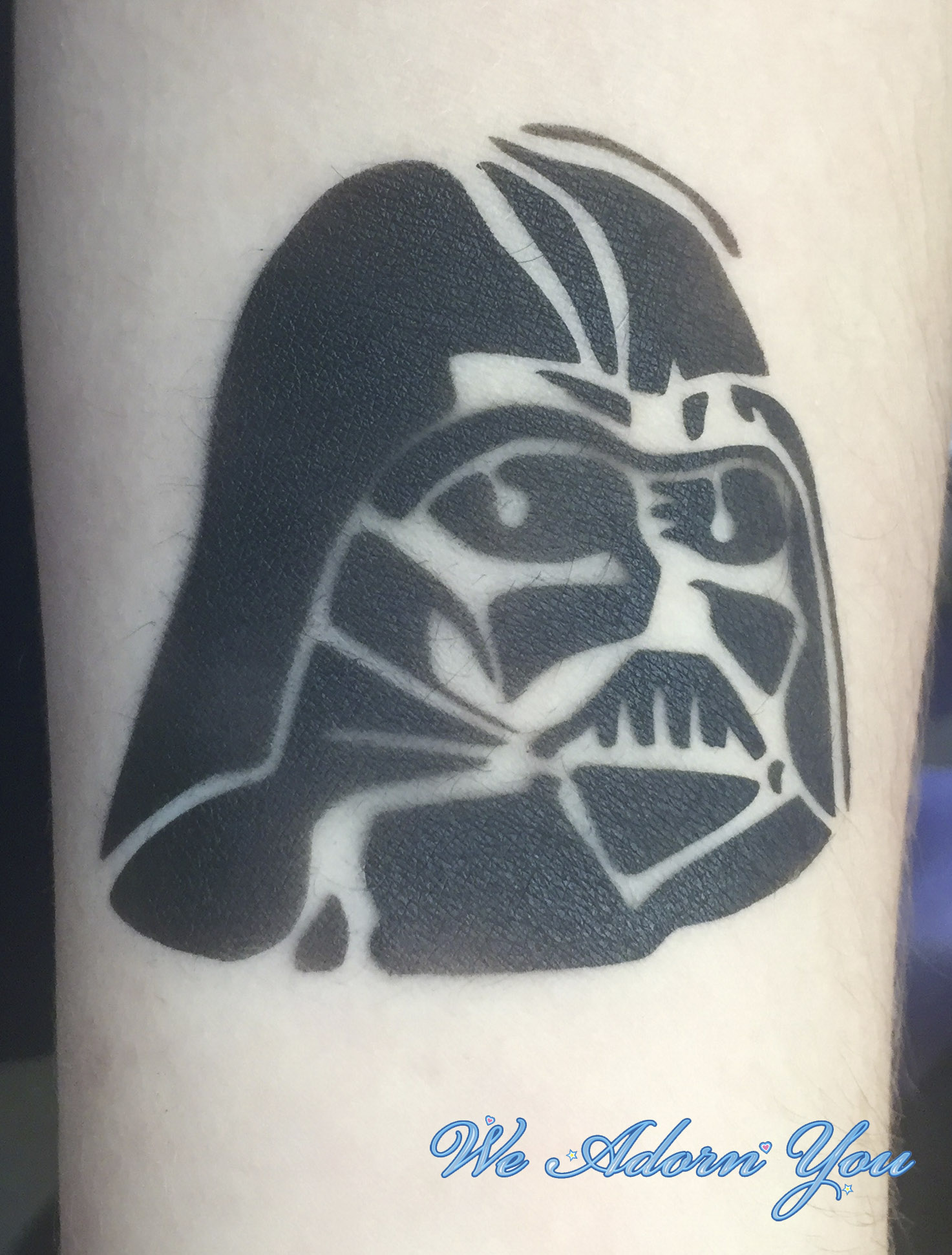 Airbrush Tattoo Darth Vader - We Adorn You.jpg