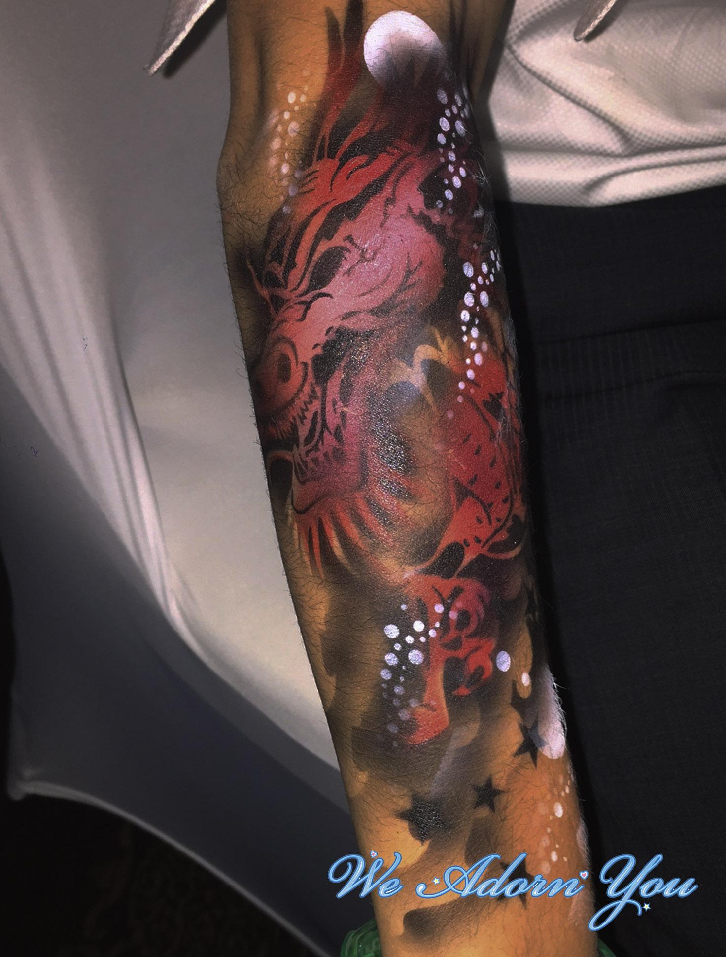 Premium Airbrush Tattoo Dragon - We Adorn You.jpg