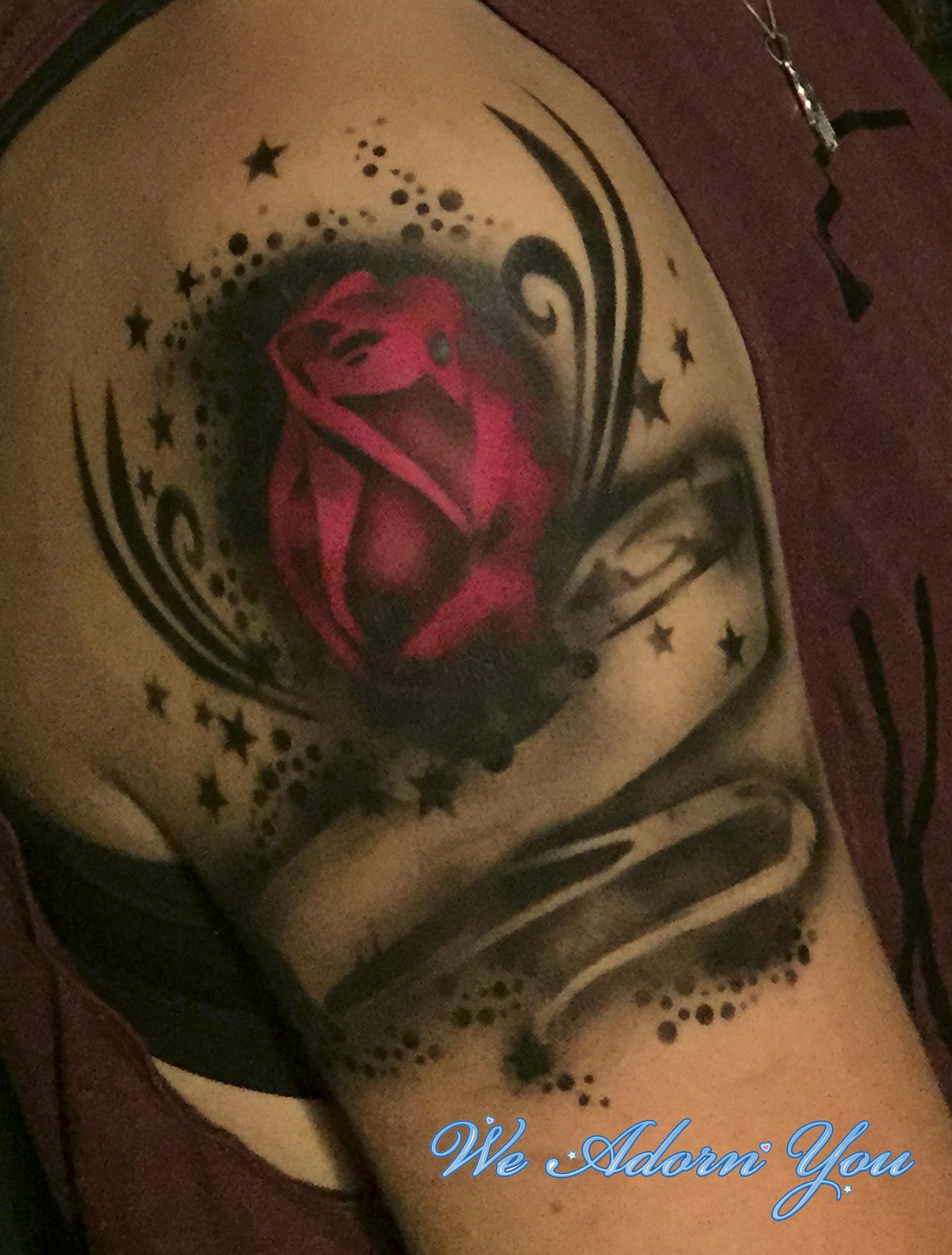 Premium Airbrush Tattoo Red Rose - We Adorn You.jpg