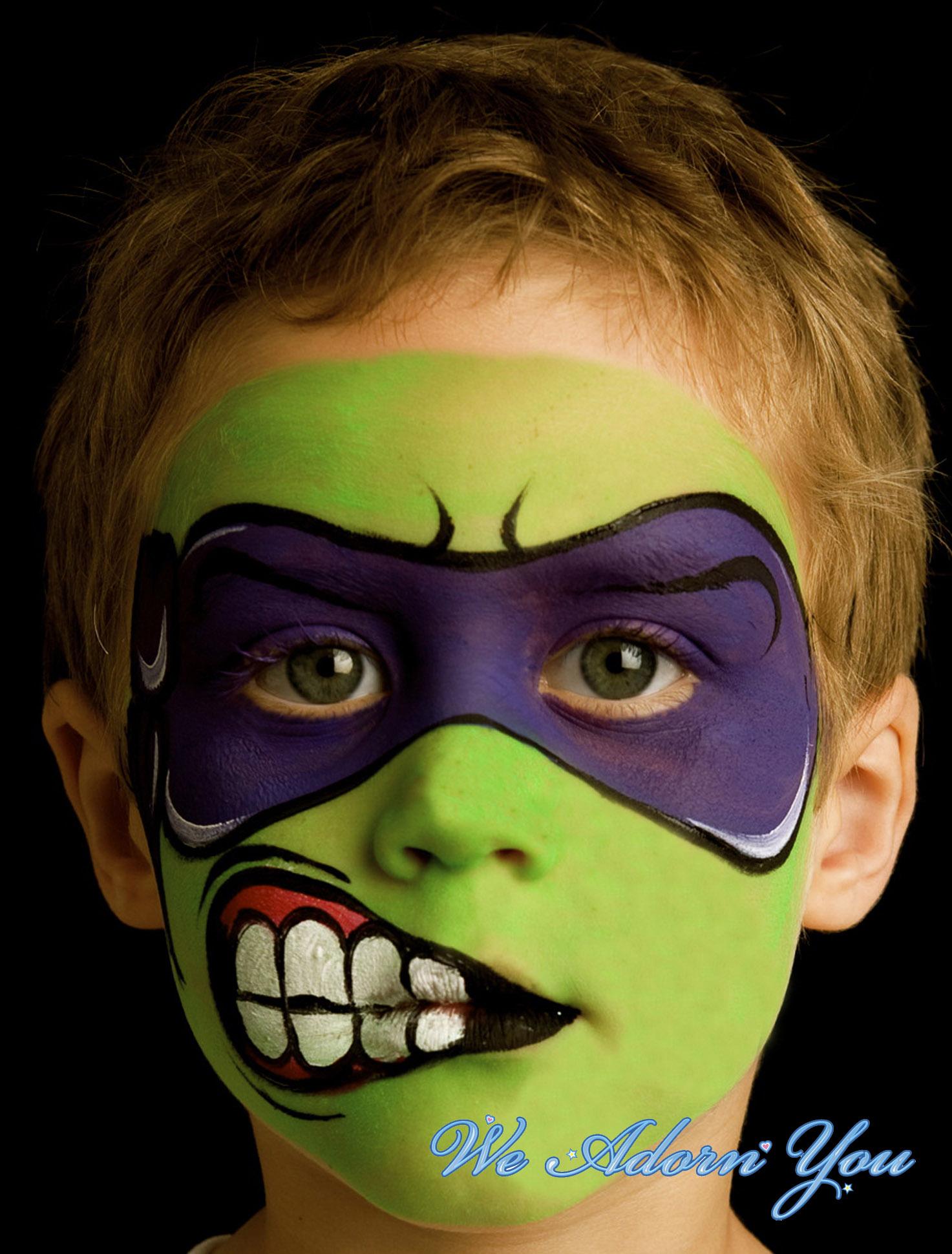 Face Painting Tenage Mutant Ninja Turtle- We Adorn You.jpg
