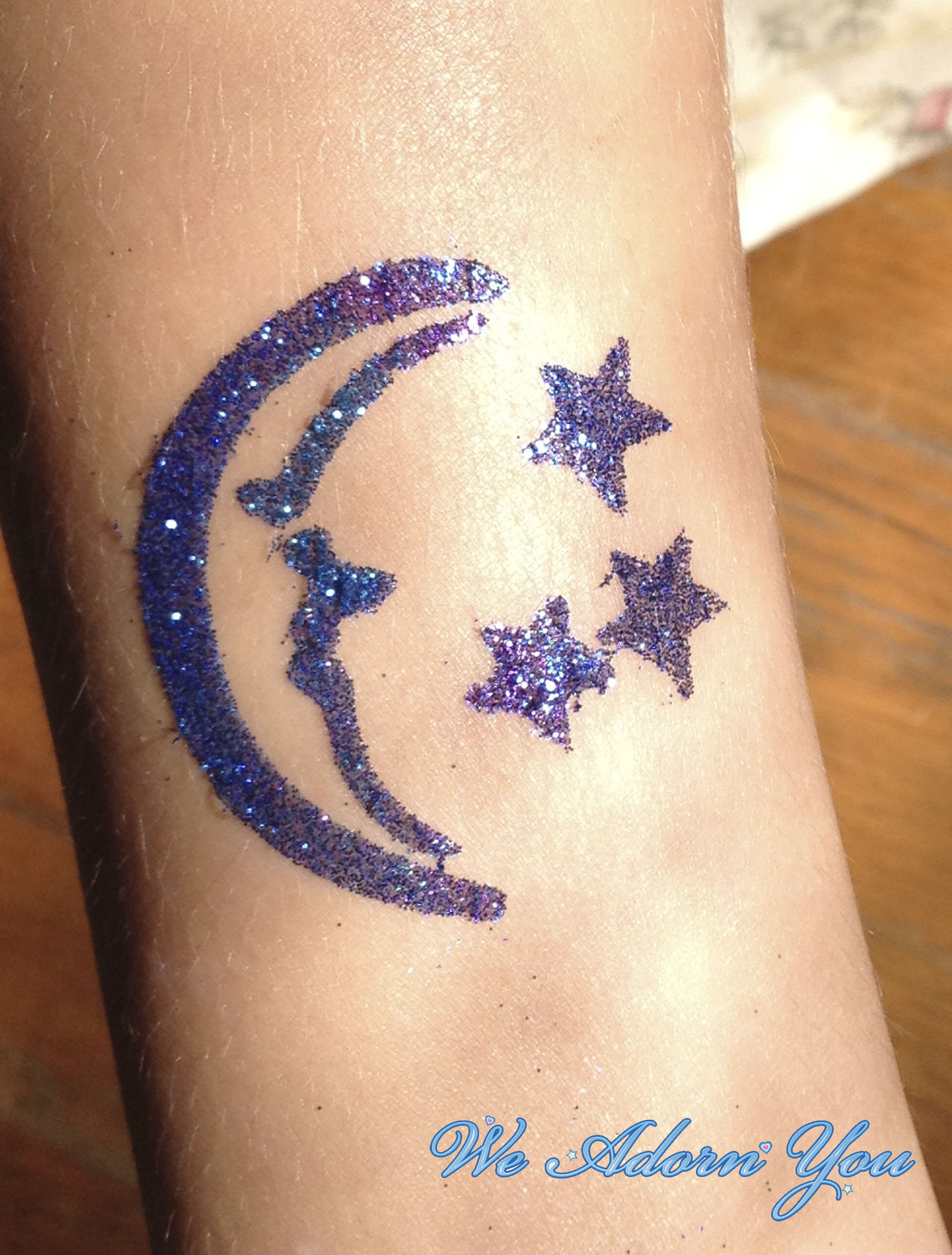 Glitter Tattoo Moon and Stars- We Adorn You.jpg