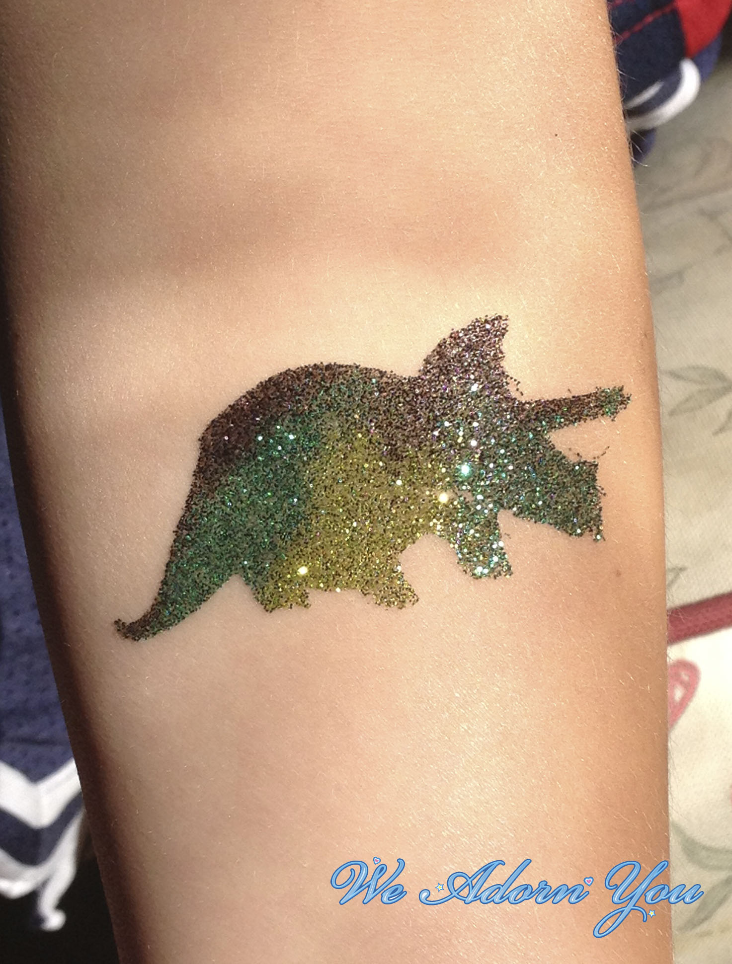 Glitter Tattoo Dinosaur- We Adorn You.jpg