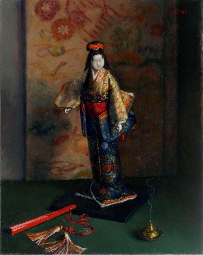 """Japanese Antiquity - 29"""" x 22"""" Oil on Linen"""