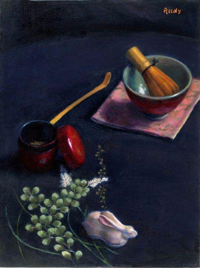 """Tea Serenity - 16"""" x 12"""" Oil on Linen"""