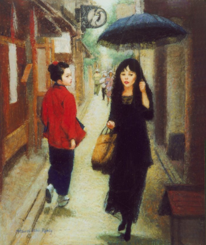 """Ponto-Cho in May - 29""""x21.5"""" Pastel"""