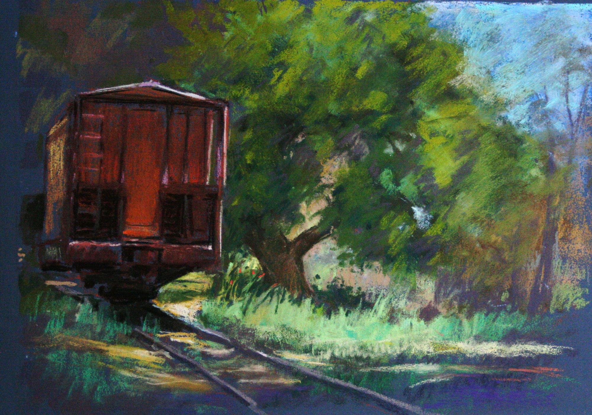 At Lamy, Old Train Car