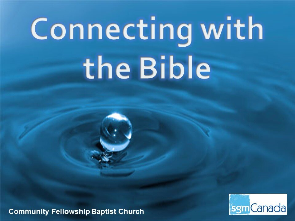 Connecting with the Bible - Lawson Murray - Scripture Gift MissionJames 1:17-25