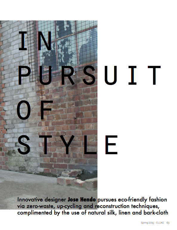 In Pursuit of Style