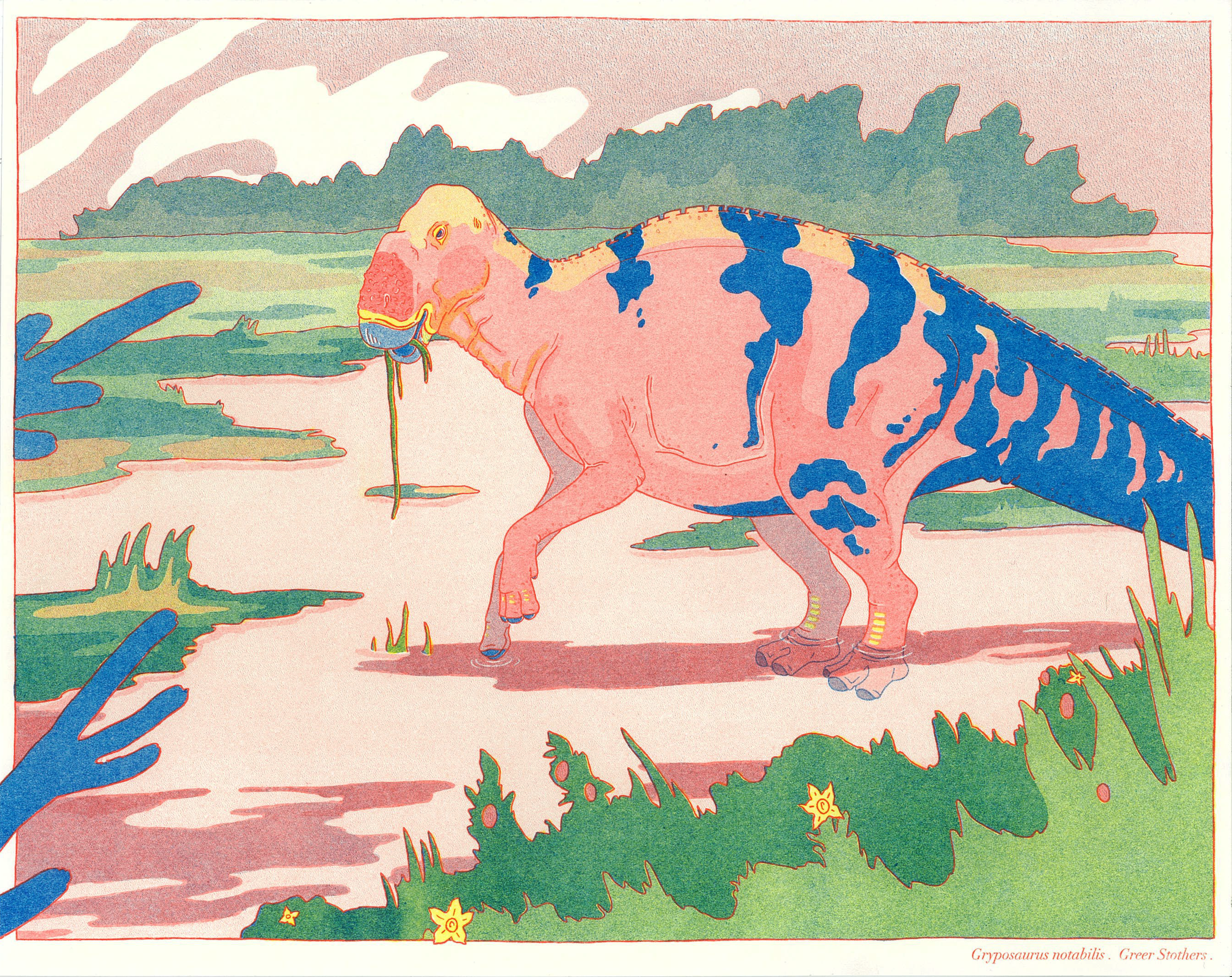Gryposaurus Illustration done for the ROM research project