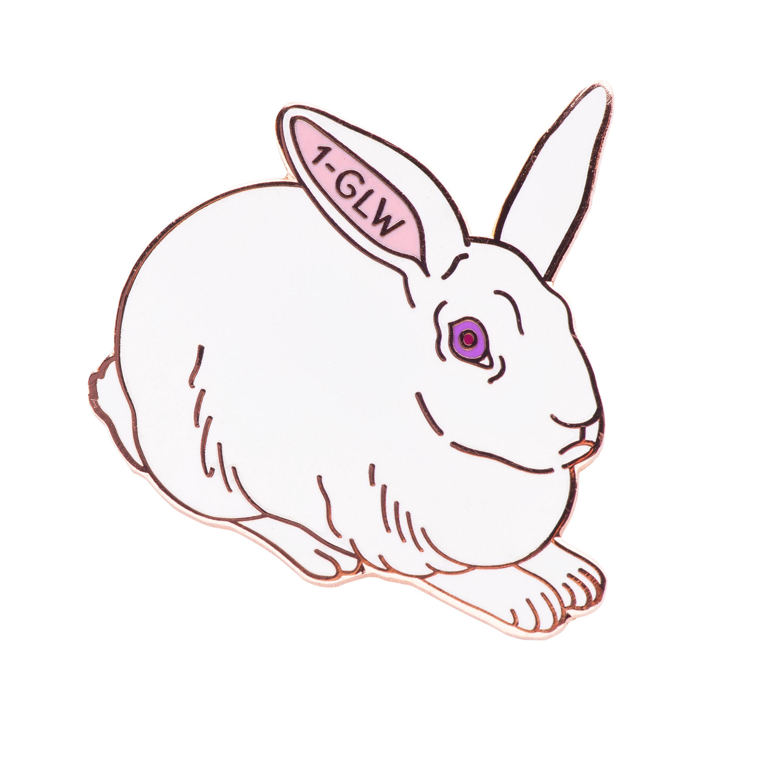 Lab Rabbit (glow-in-the-dark)