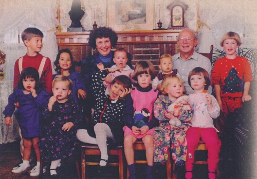 Dick and Mary Ellen with grandkids.jpg