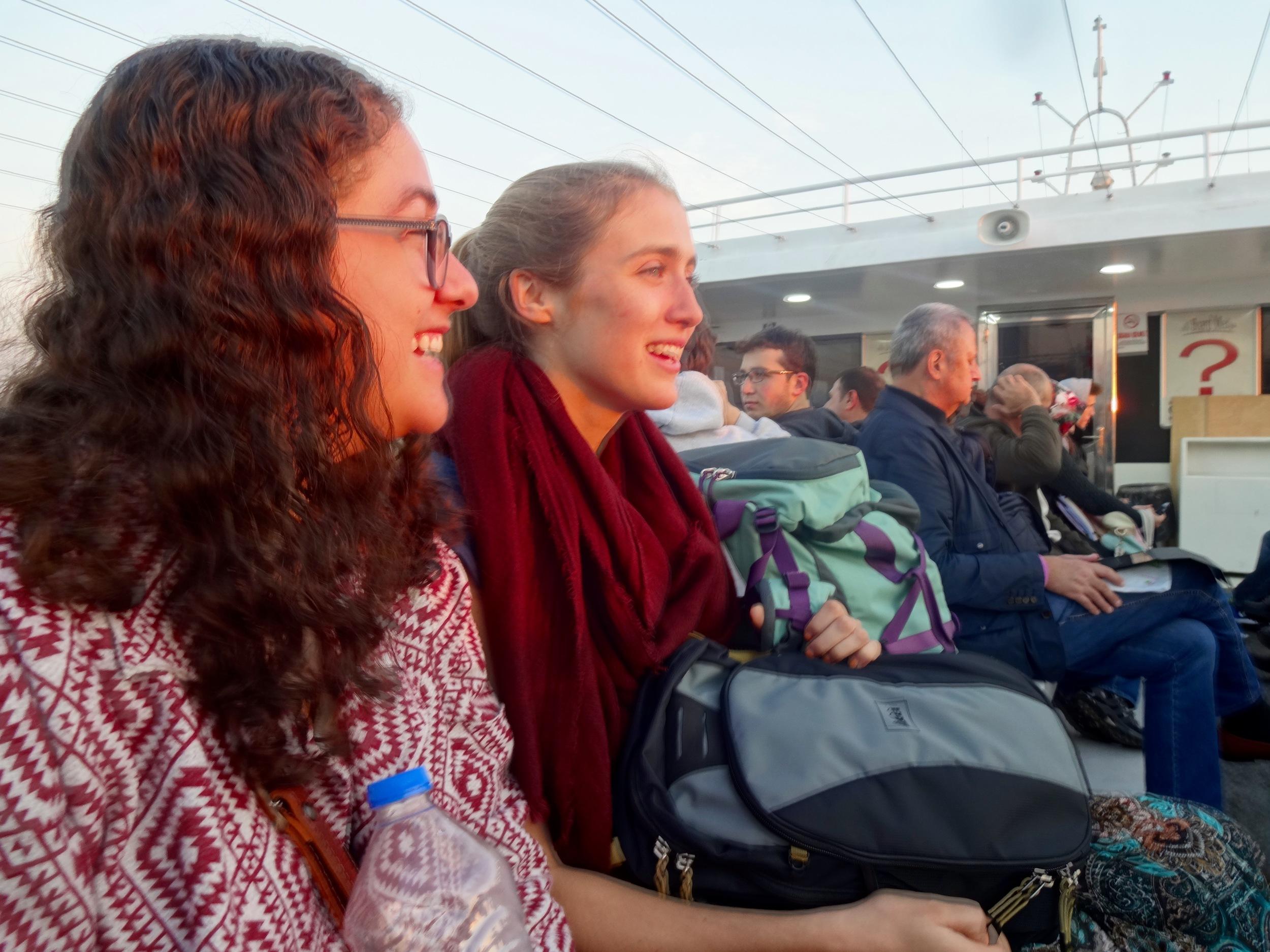 my beautiful friends on a ferry in istanbul, turkey - m.quigley