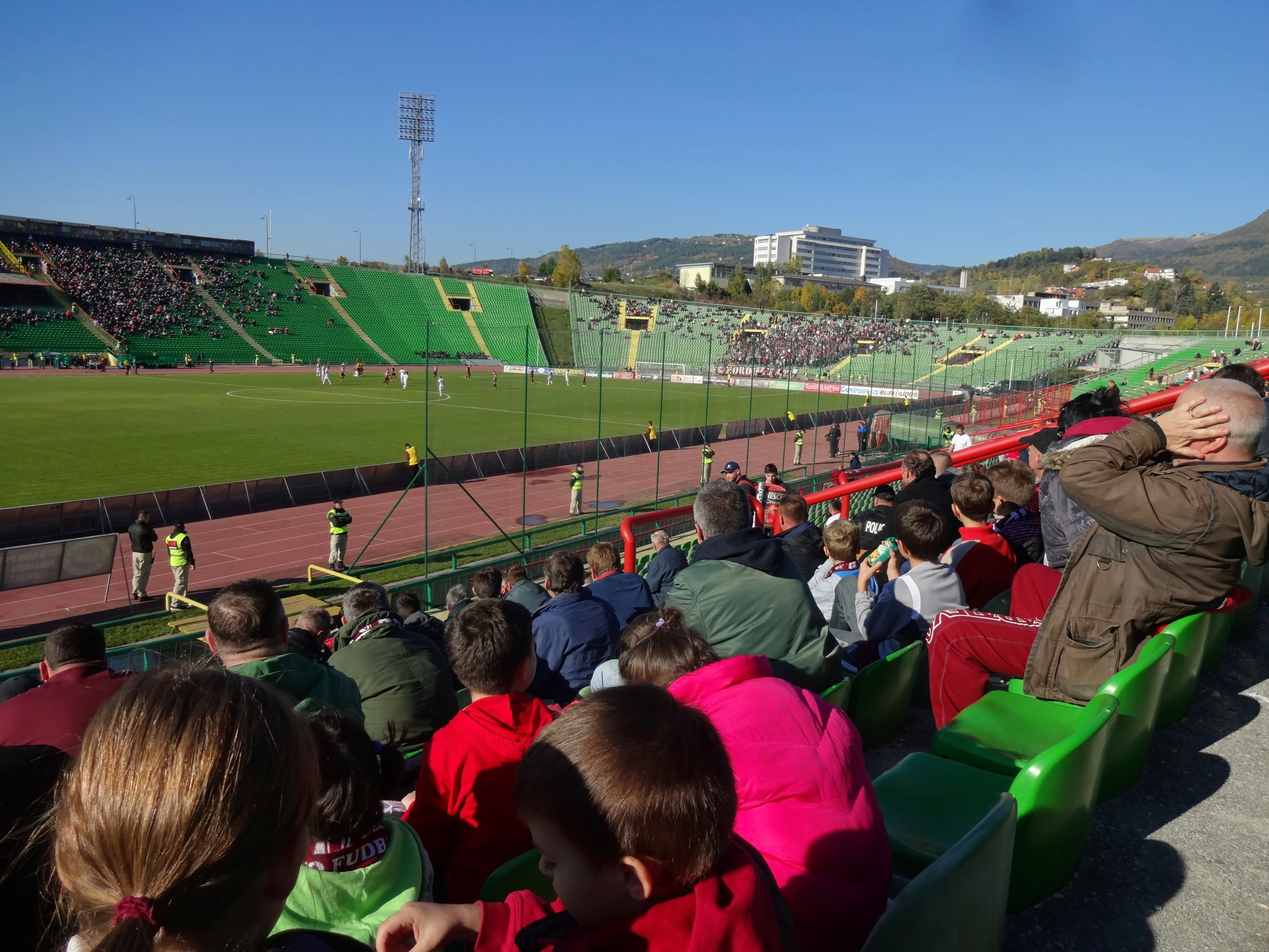 a SOCCER game in sarajevo was a splurge... but it was an awesome local experience. sarajevo, bosnia - m.quigley