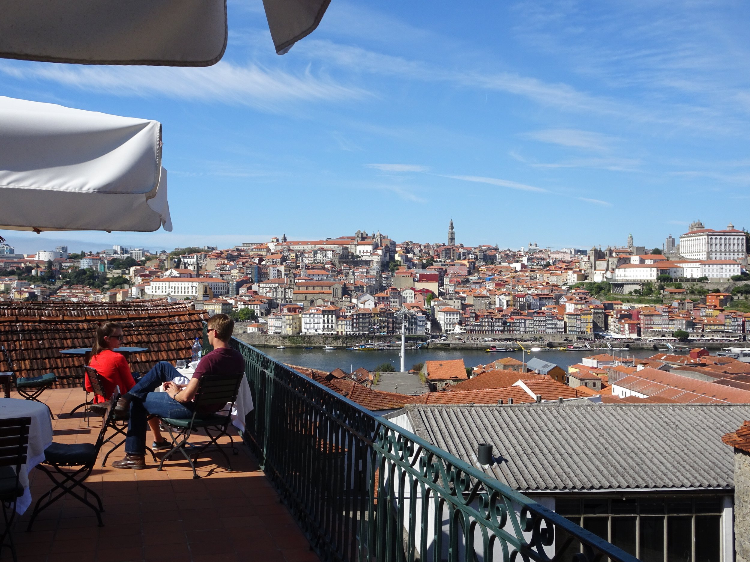 View from restuarant at Taylor Port House, Porto, Portugal - M.Quigley