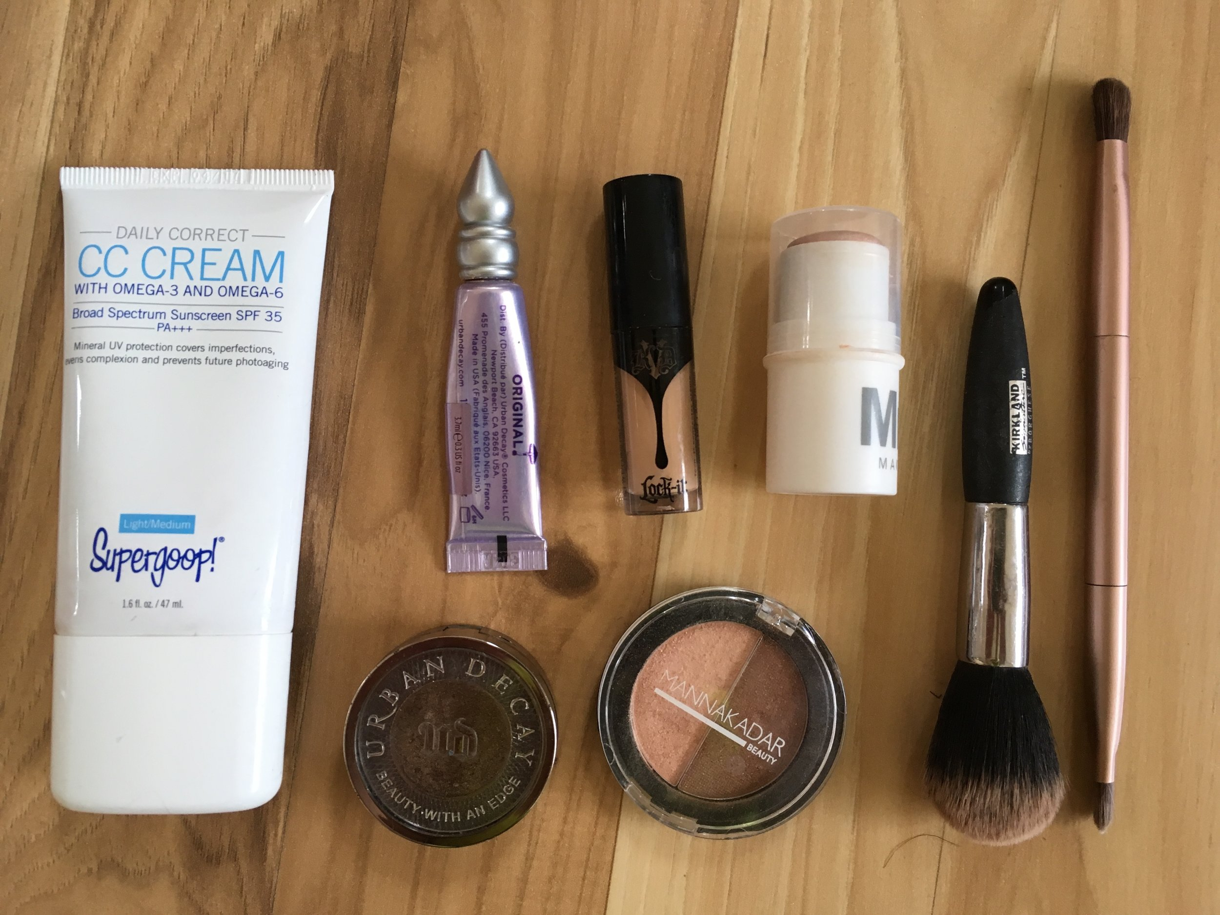 makeup for backpacking
