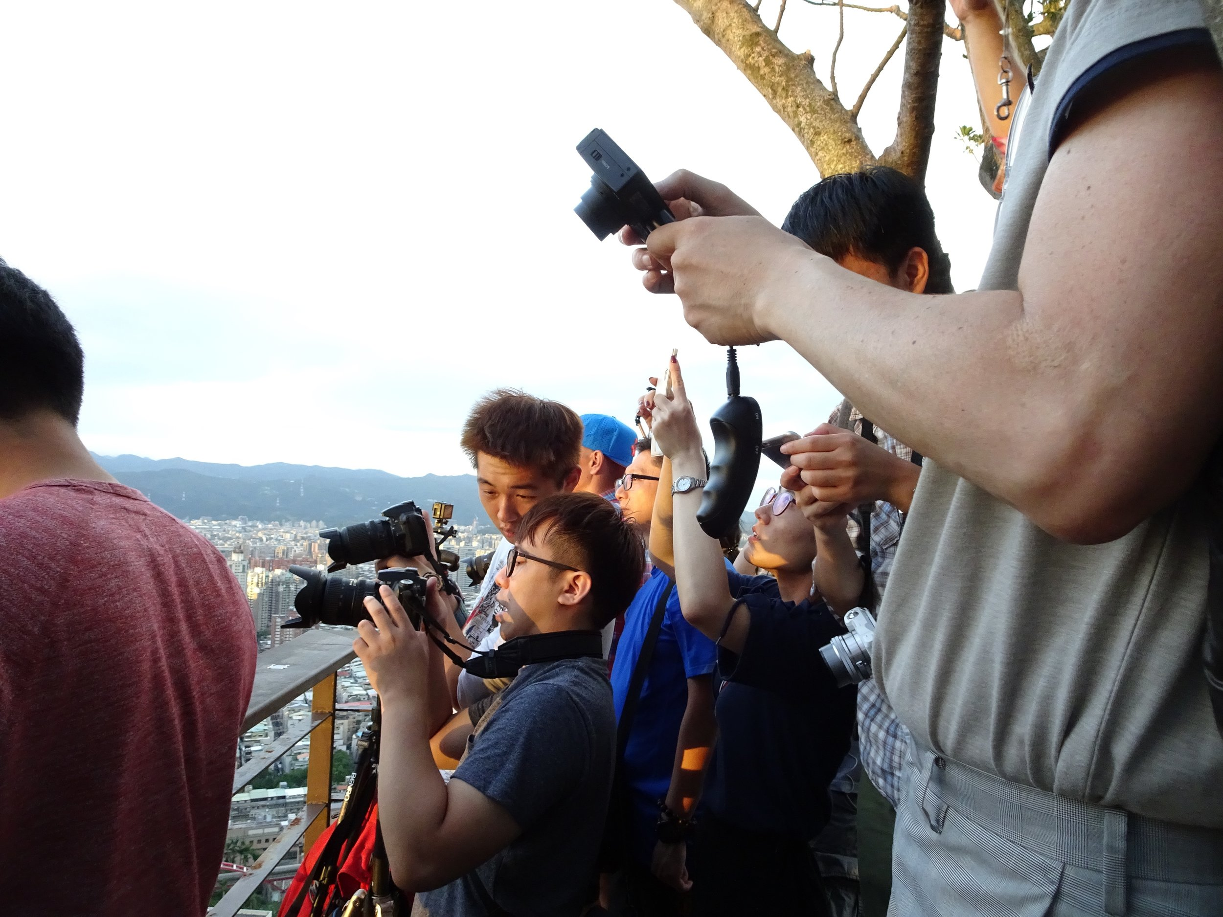 just a few people taking pictures on mt. elephant in TAIPEI, TAIWAN - M.QUGLEY