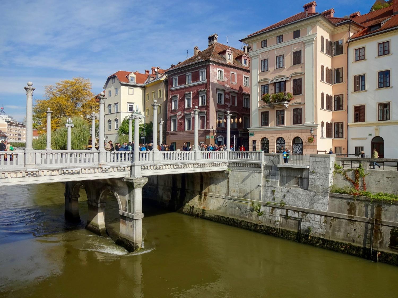 the Cobblers' Bridge, ljubljana, slovenia
