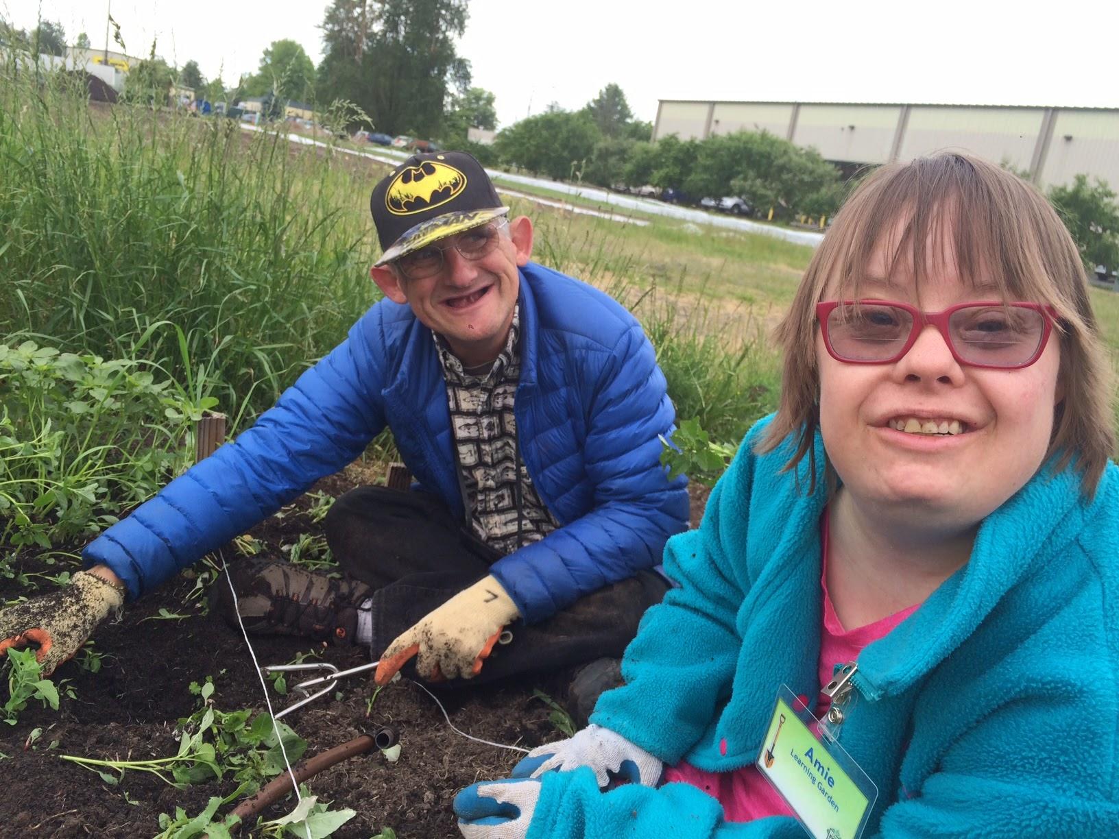 Participants volunteer at the Oregon Food Bank