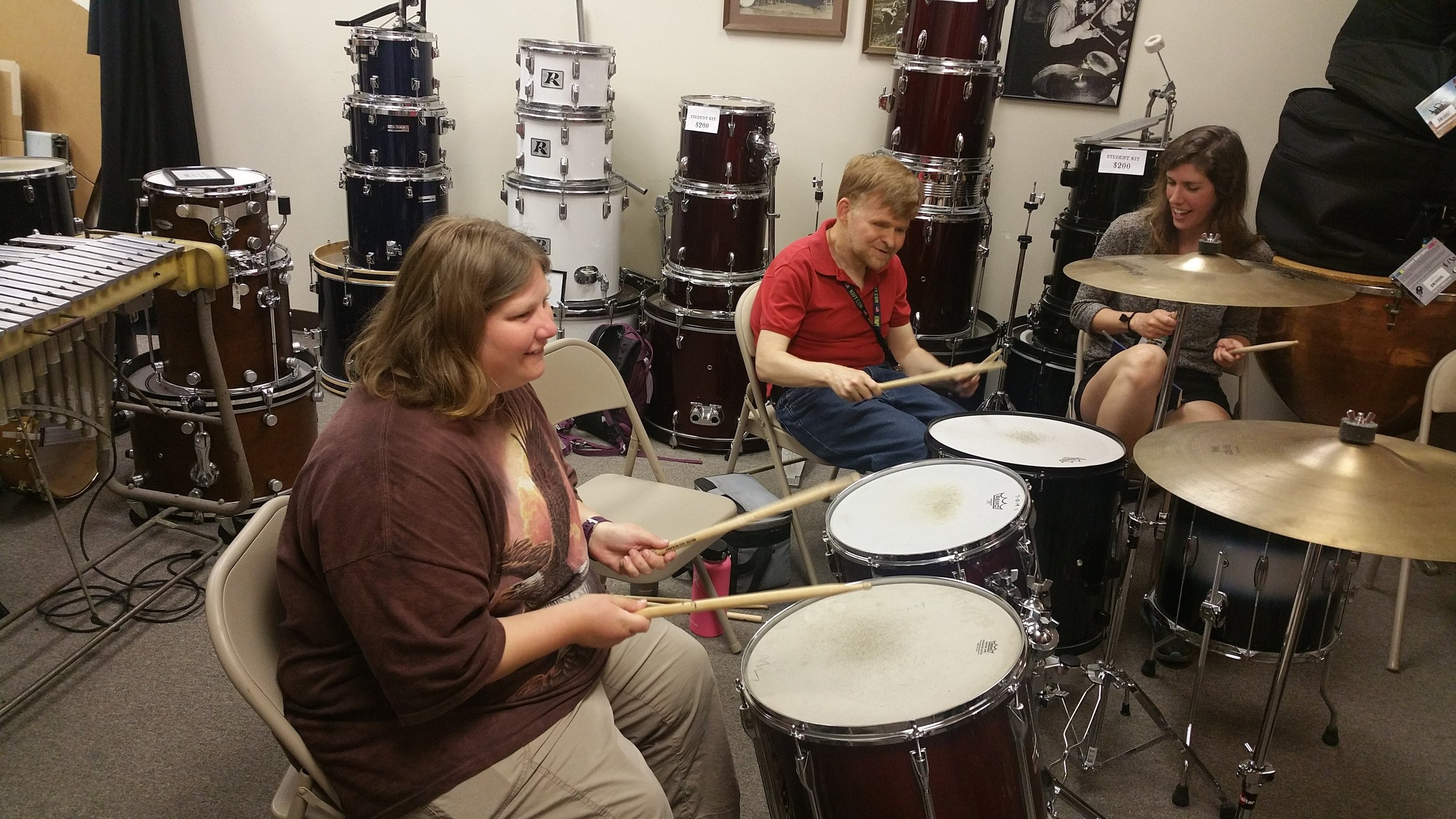 Volunteer on Get Involved at On-The-Move Drums.jpg