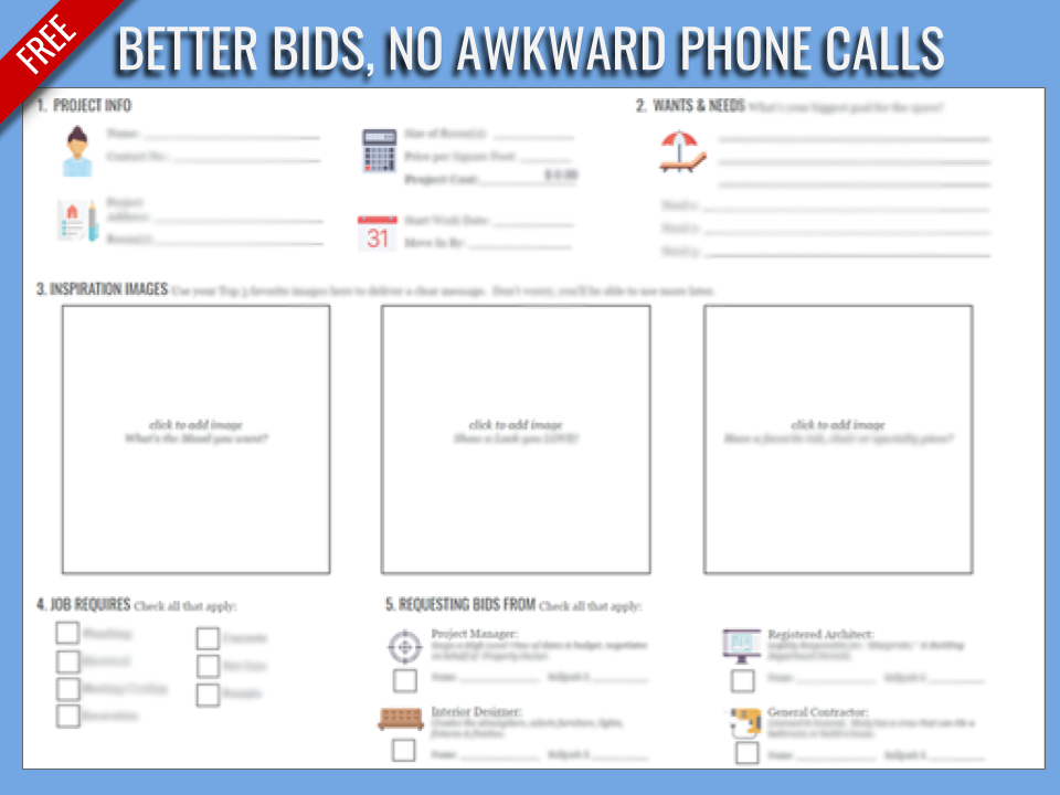stop wasting time with uncomfortable phone calls. - Over 40% of people don't believe they can afford their Dream Home. Use this tool to get better bids, faster.