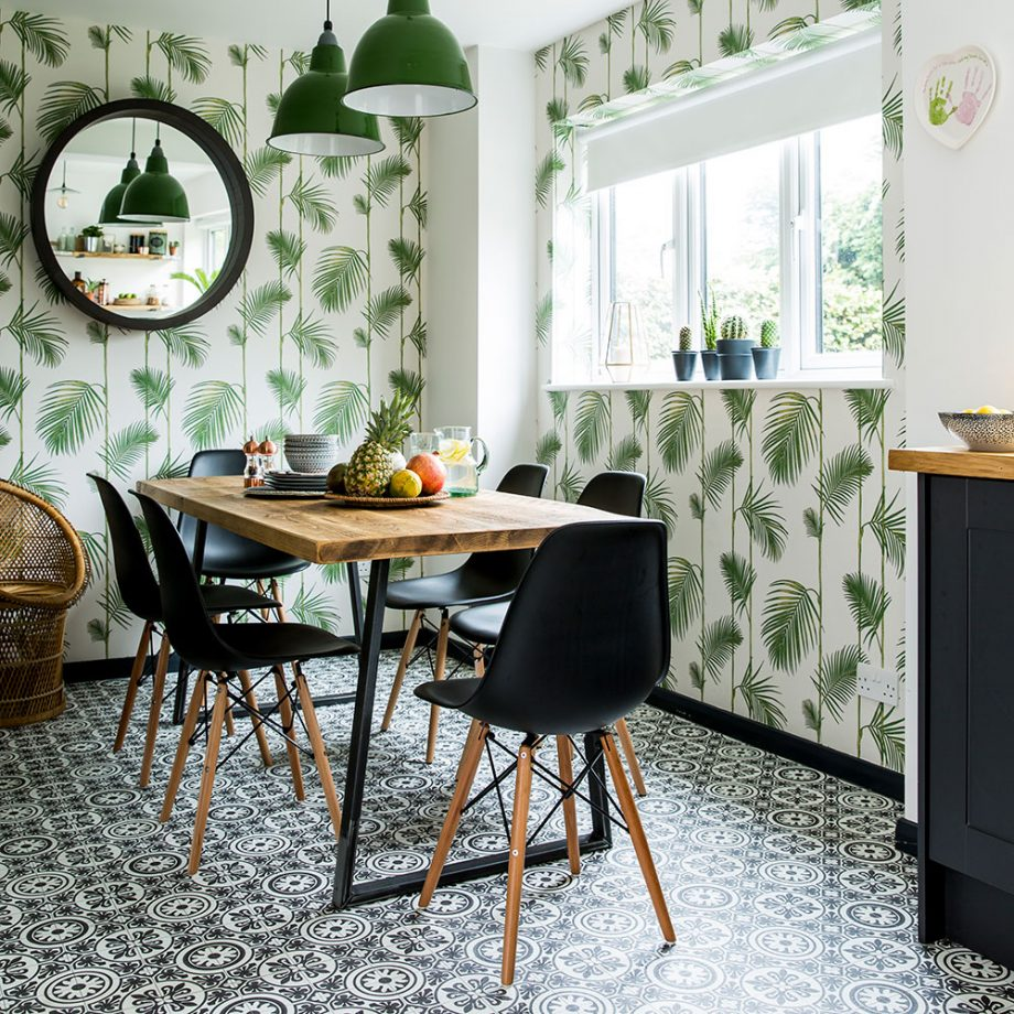 Kitchen-makeover-dark-grey-units-palm-print-wallpaper-green-accents-4-920x920.jpg